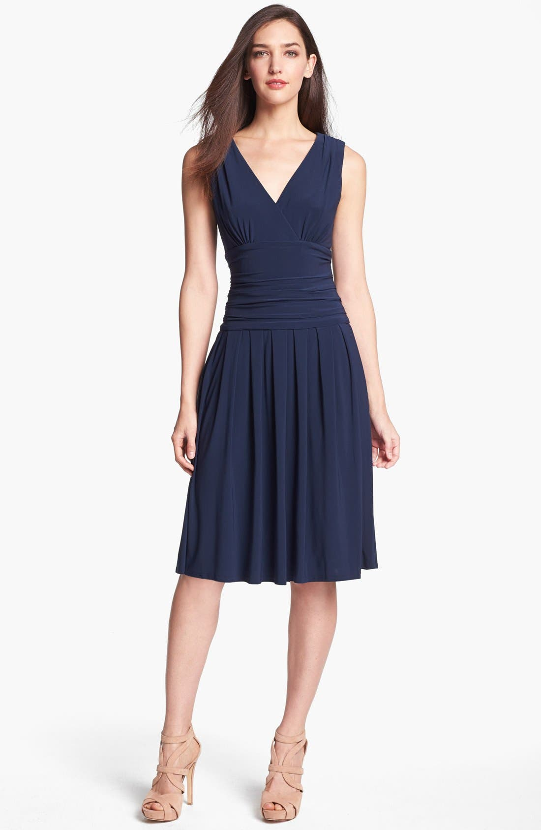 Main Image - Eliza J Sleeveless Ruched Matte Jersey Dress