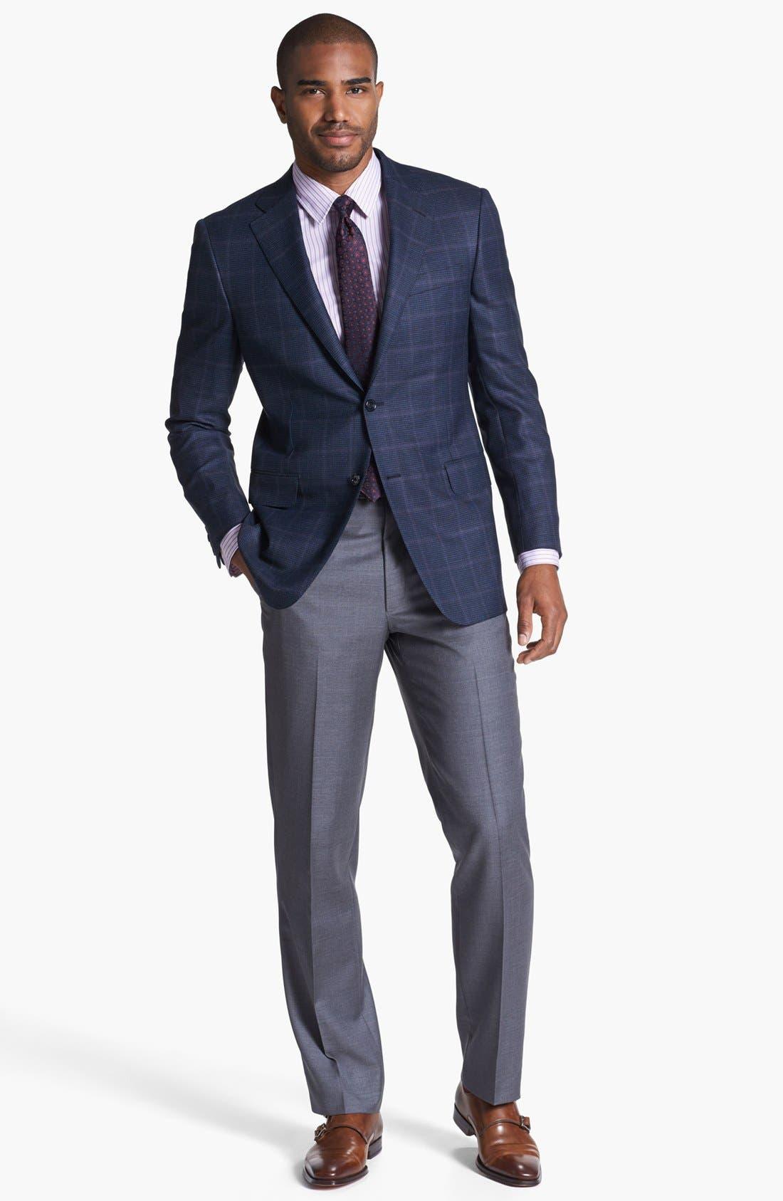 Alternate Image 4  - Hickey Freeman 'B Series' Plaid Wool Sportcoat