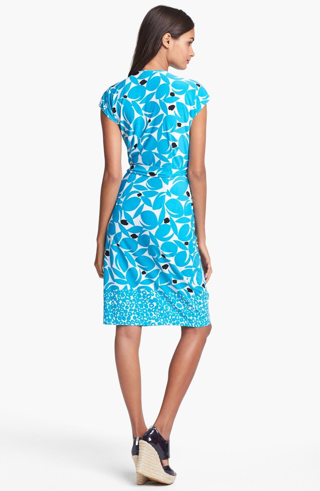 Alternate Image 2  - Maggy London Print Cap Sleeve Jersey Wrap Dress