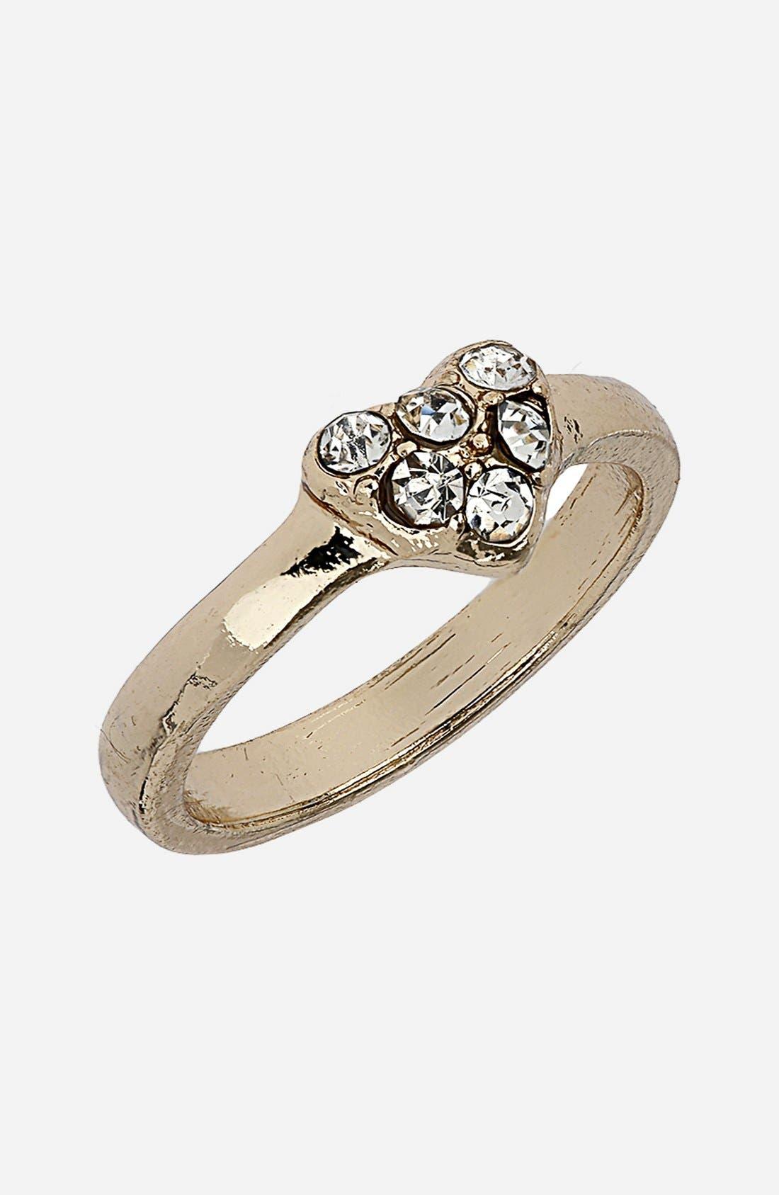 Alternate Image 1 Selected - Topshop Midi Heart Ring