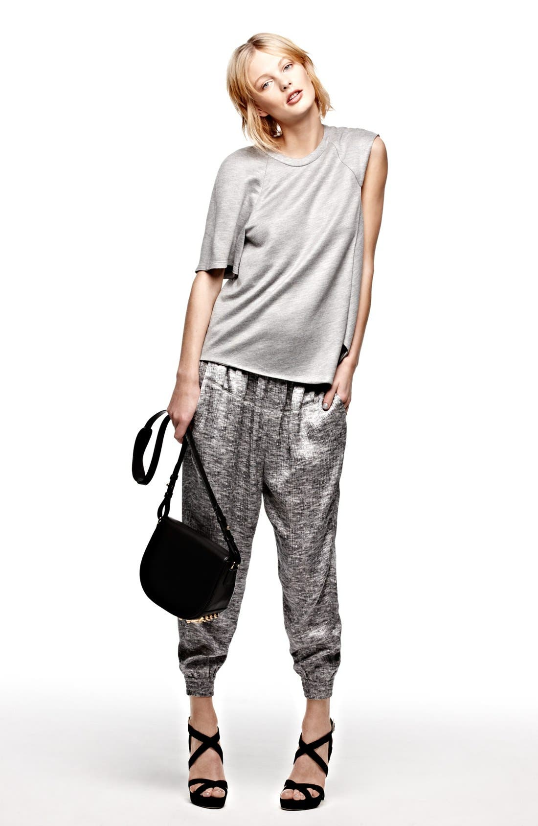 Alternate Image 4  - Alexander Wang Mélange Print Silk Drawstring Pants