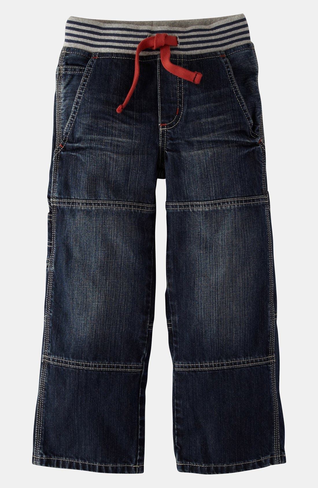 Main Image - Mini Boden Ribbed Waist Carpenter Pants (Toddler Boys)