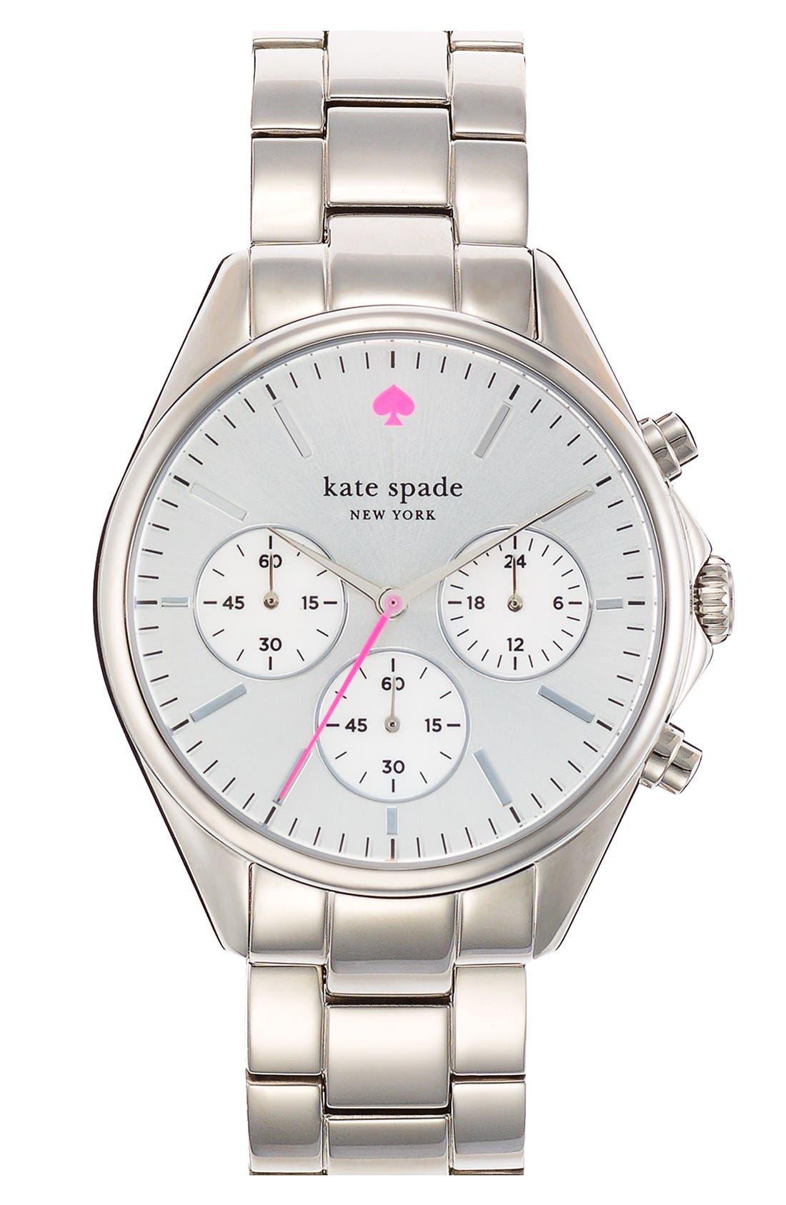 Main Image - kate spade new york 'seaport' chronograph bracelet watch, 38mm