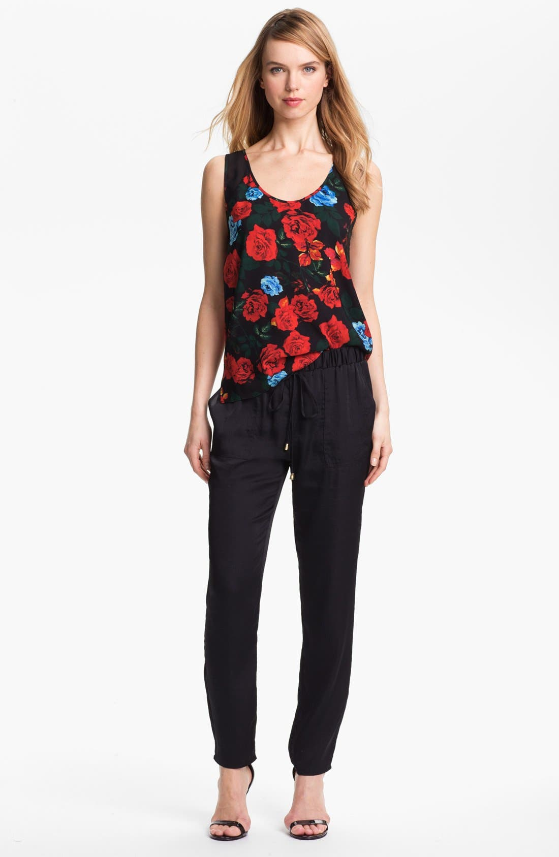 Alternate Image 1 Selected - Vince Camuto Rose Print Tank