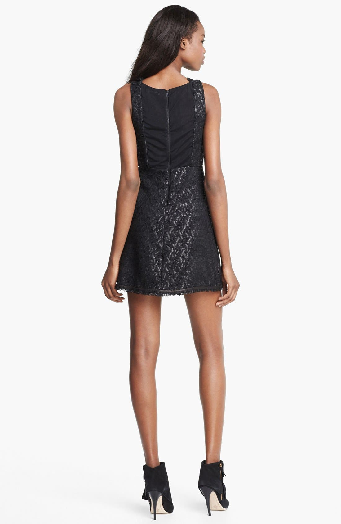 Alternate Image 2  - Alice + Olivia 'Sardo' Leather Detail Dress