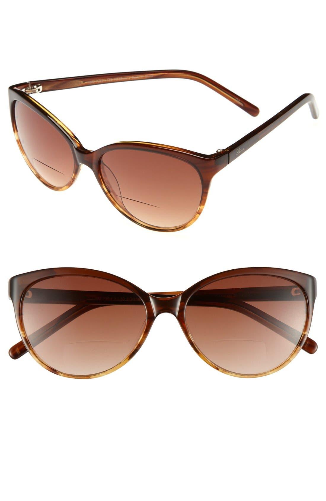 Alternate Image 1 Selected - I Line Eyewear 'Felis' Reading Sunglasses