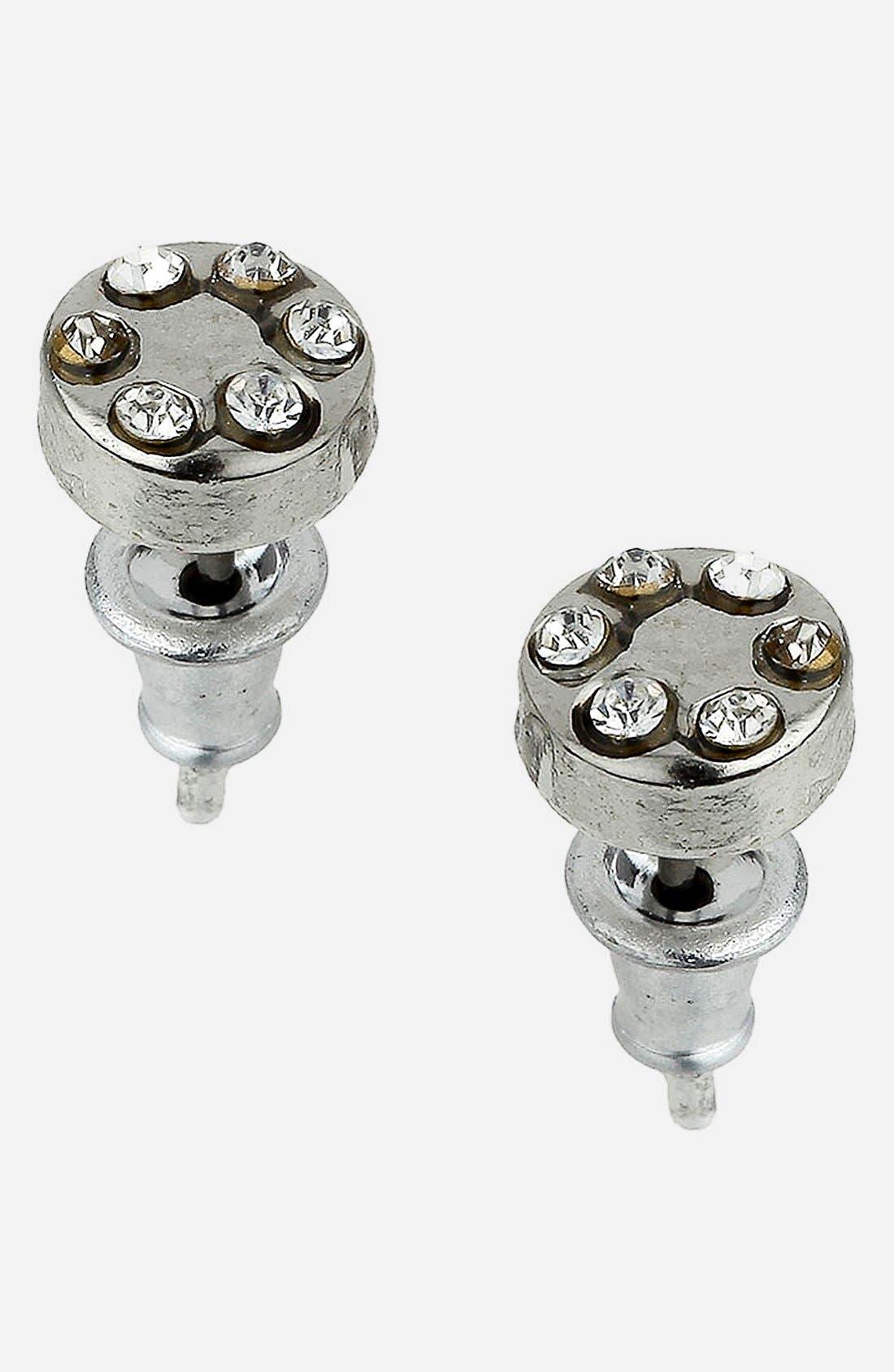 Main Image - Topman Round Stud Earrings