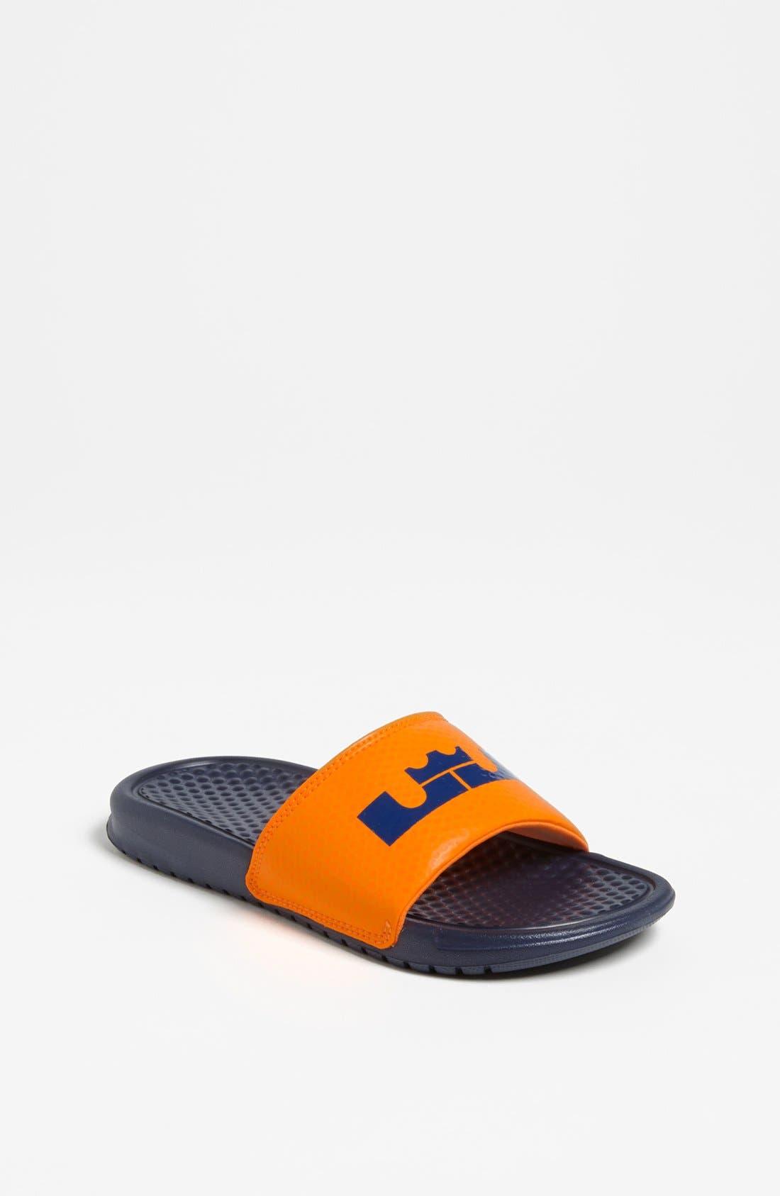 Main Image - Nike 'Lebron James - Benassi' Sandal (Toddler, Little Kid & Big Kid)