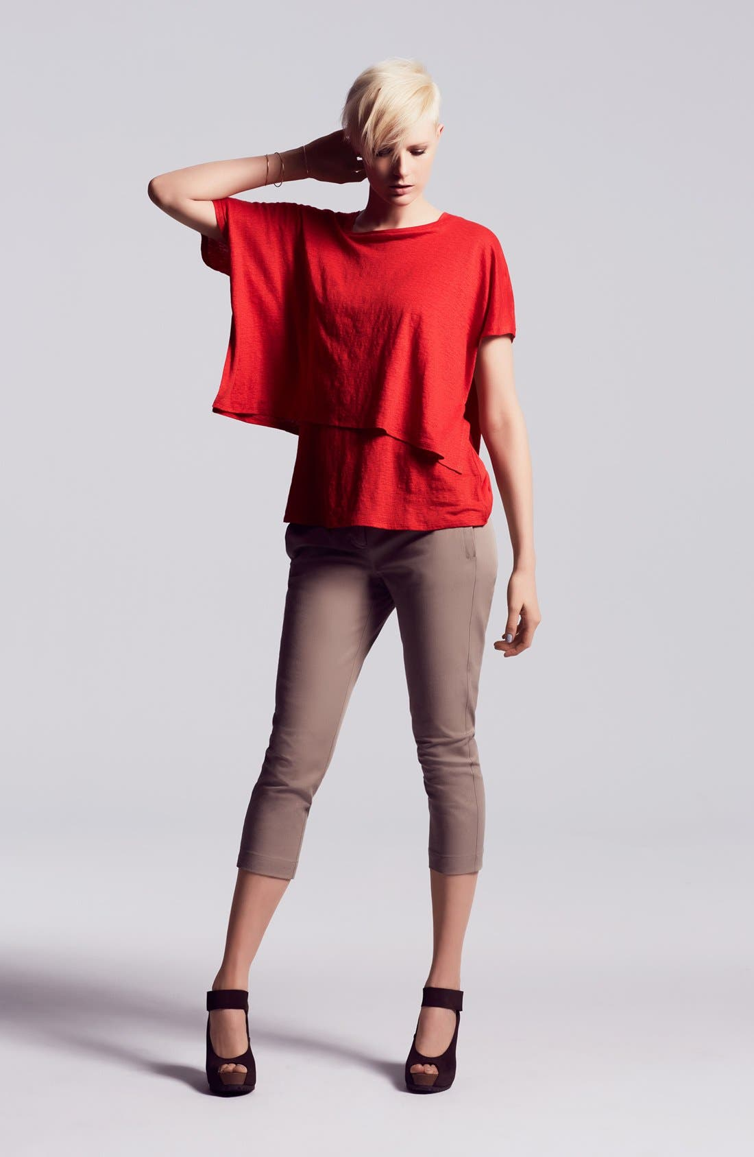 Alternate Image 2  - Eileen Fisher Crop Poncho Top
