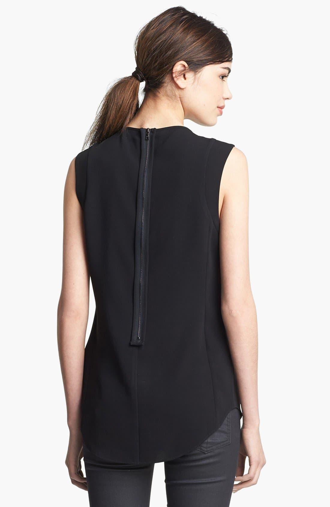 Alternate Image 3  - rag & bone 'Astrid' Leather Collar Top