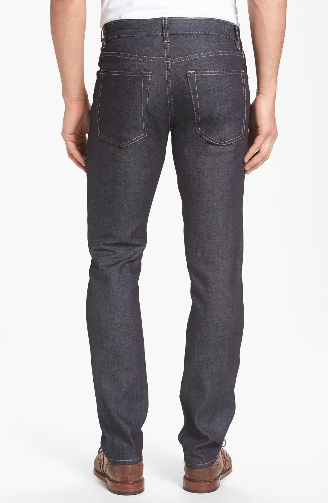 Alternate Image 2  - Williamsburg Garment Company Lightweight 'Grand Street' Slim Fit Jeans (Raw)