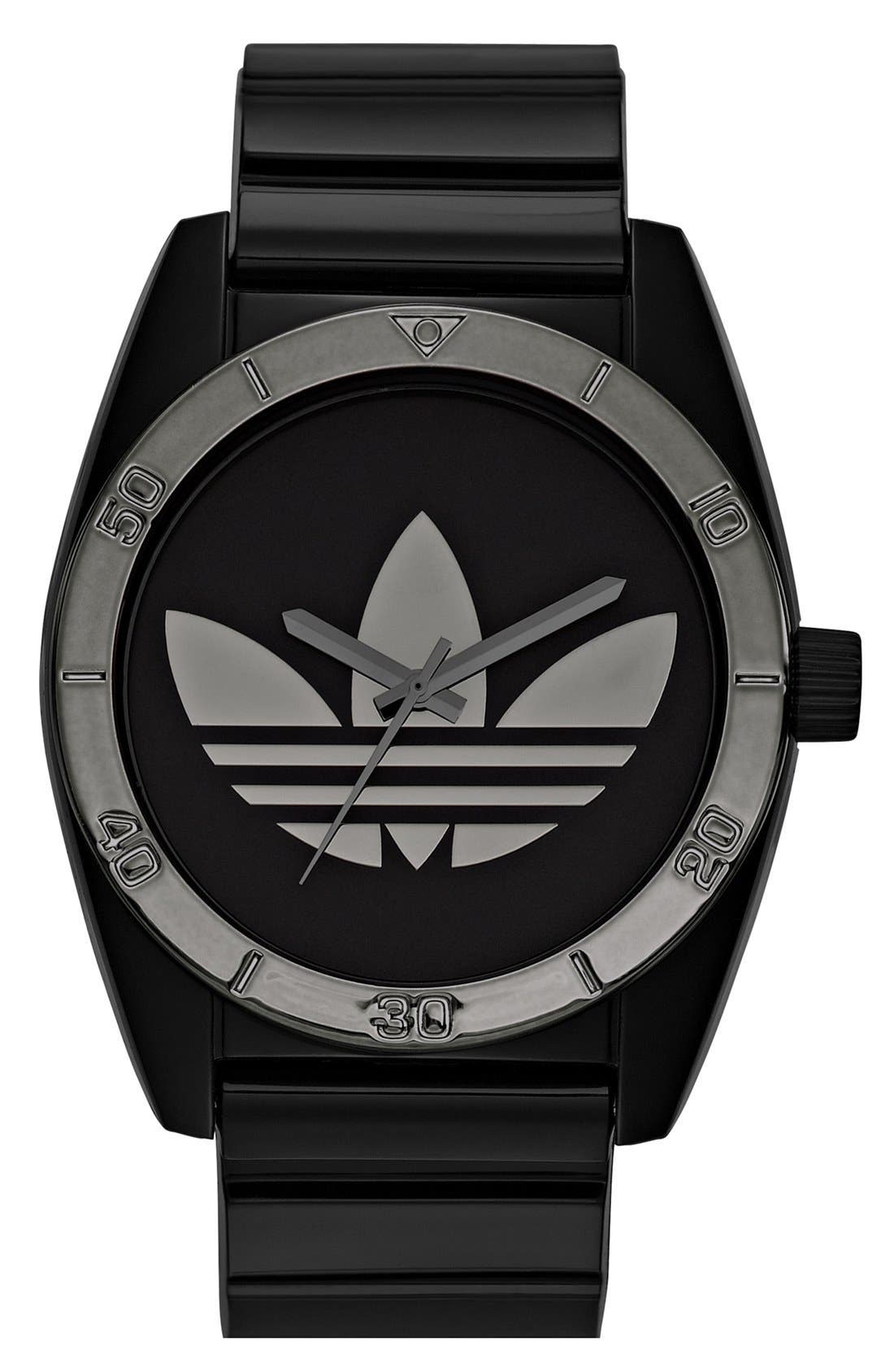 Main Image - adidas Originals 'Santiago' Metallic Accent Watch, 42mm