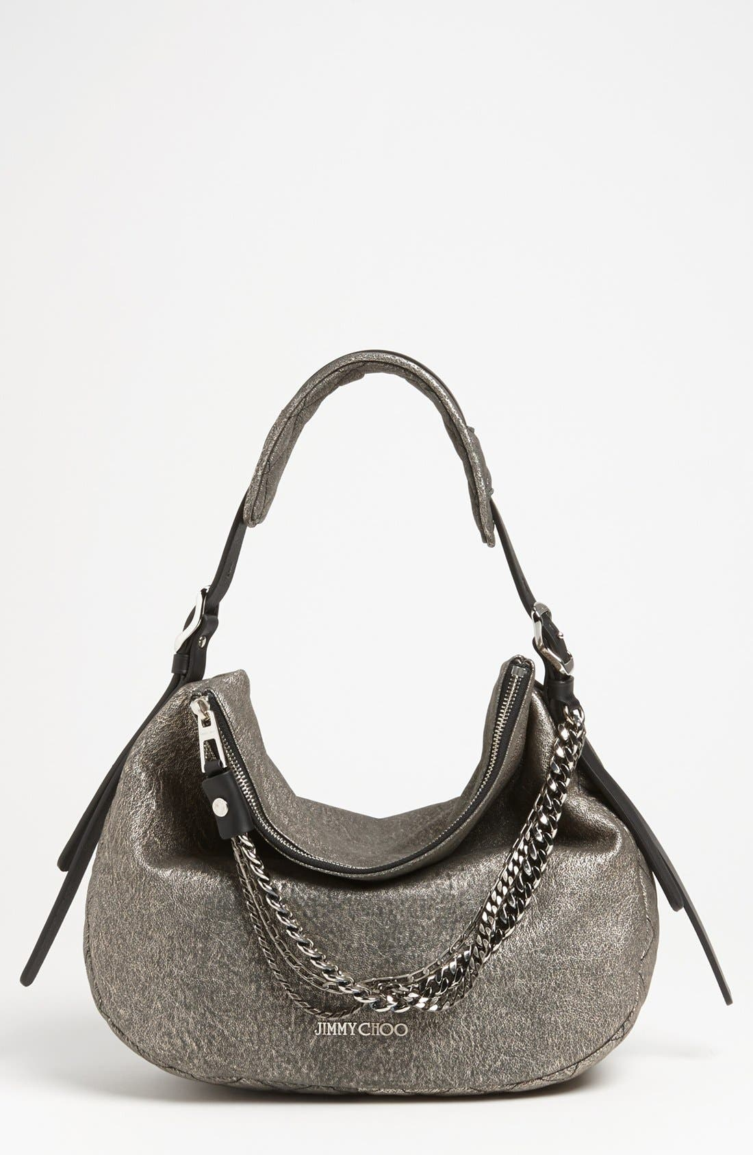 Alternate Image 1 Selected - Jimmy Choo 'Small Boho' Suede Hobo