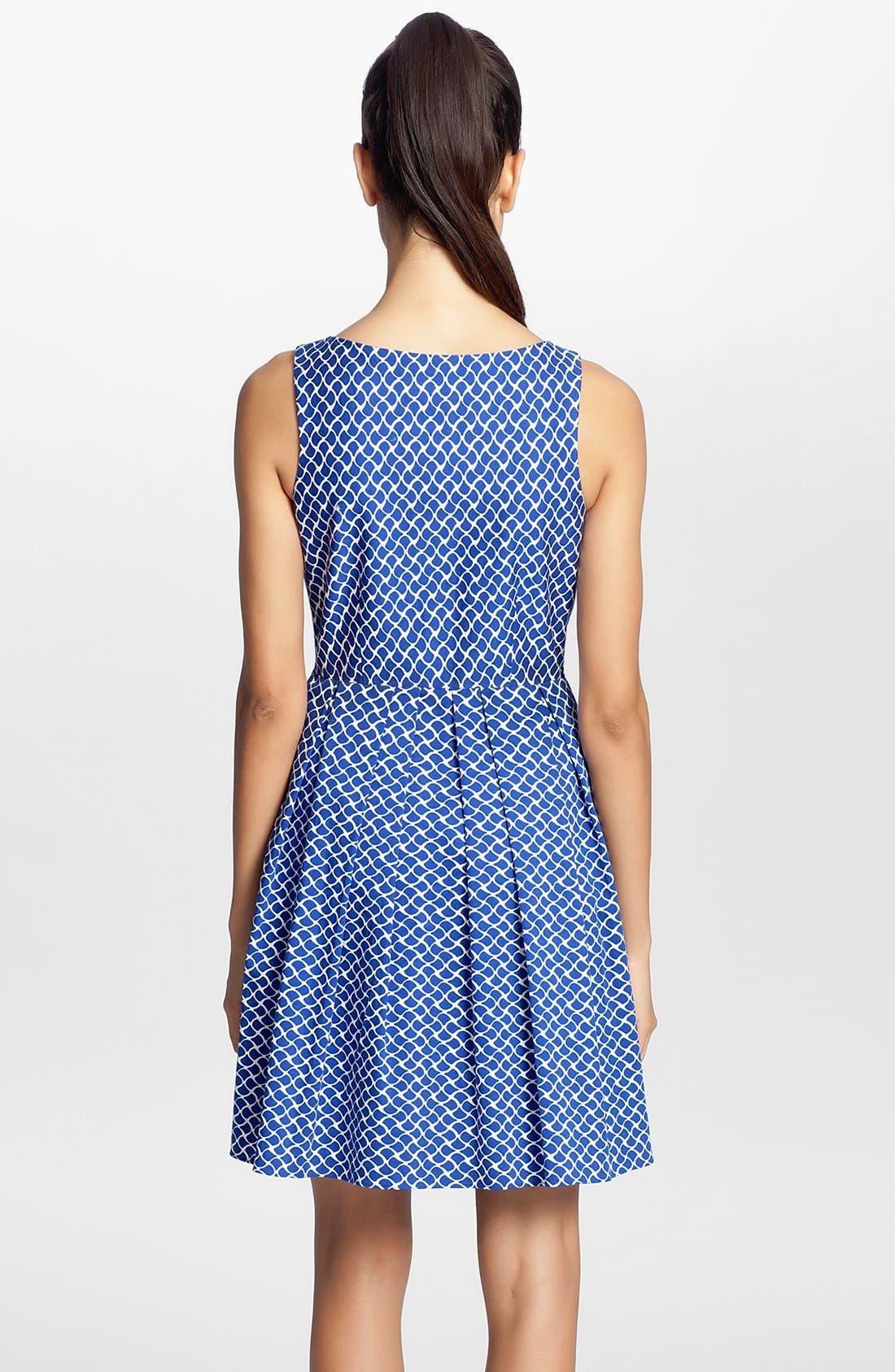 Alternate Image 2  - Cynthia Steffe Sleeveless Print Fit & Flare Dress