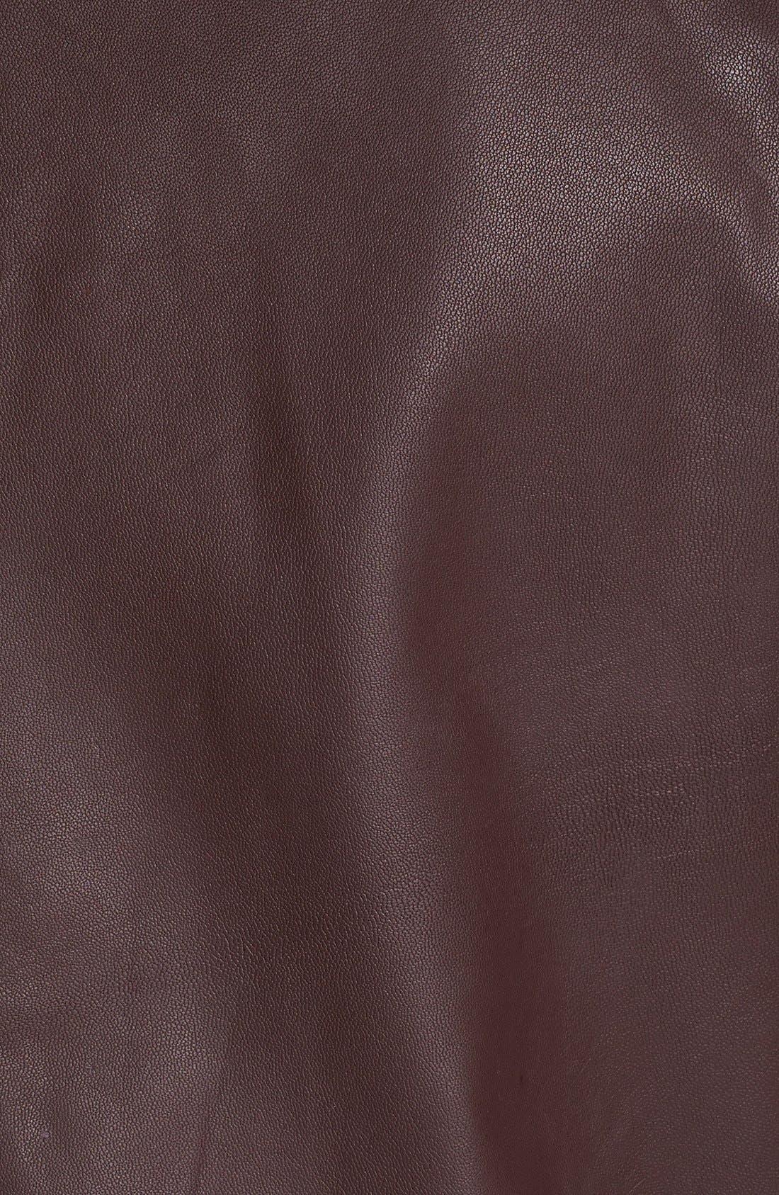 Alternate Image 3  - Topman Leather Bomber Jacket