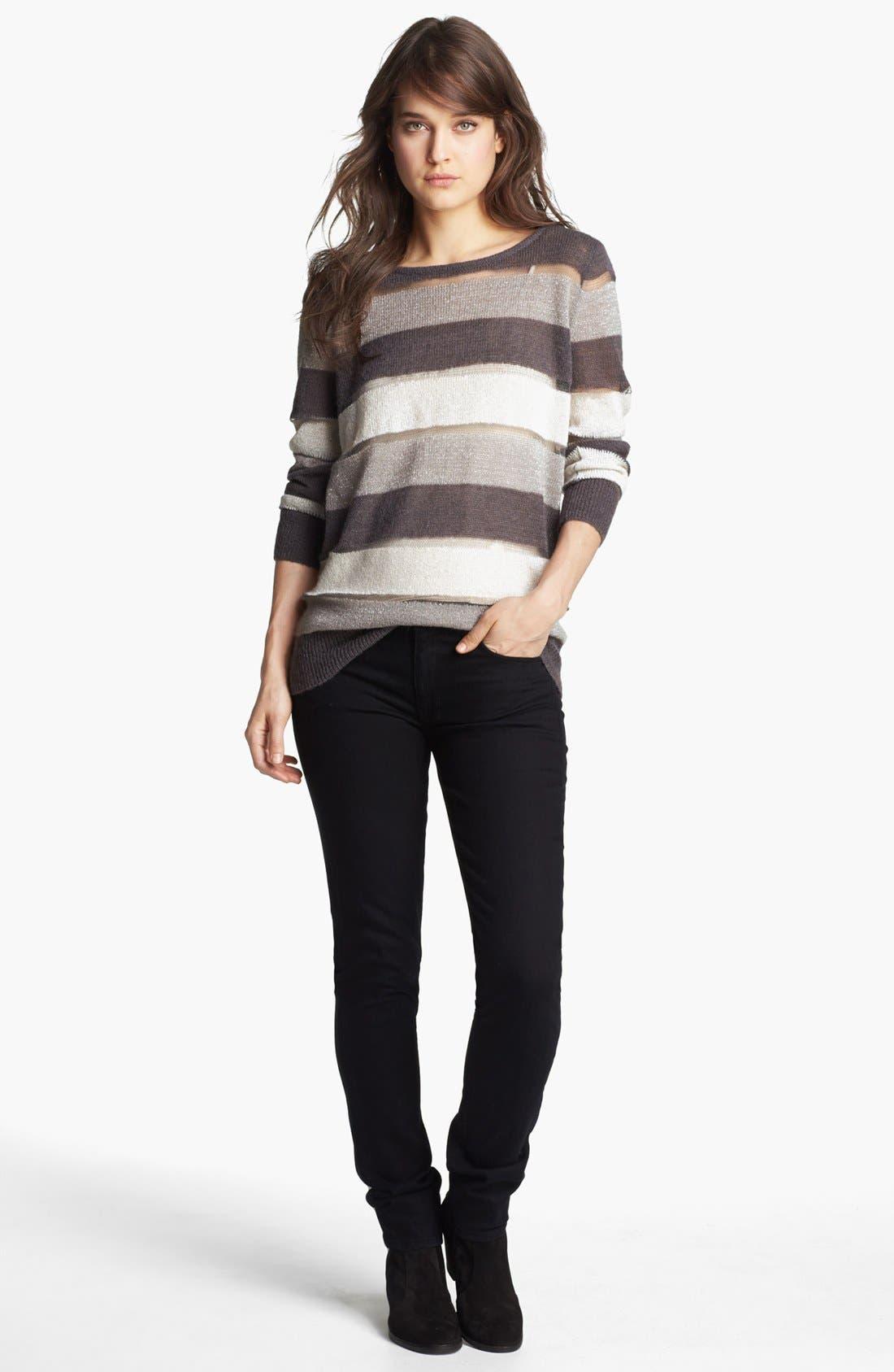 Main Image - Hinge Sweater & Hudson Jeans Skinny Jeans