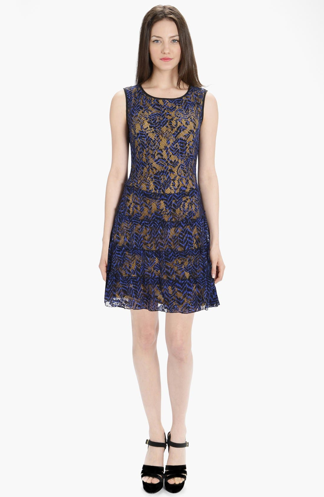 Alternate Image 1 Selected - LABEL by five twelve Tiered Lace Fit & Flare Dress