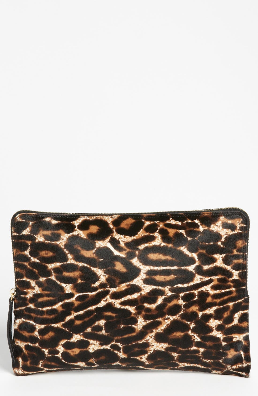 Main Image - Lanvin 'Oversize' Leopard Print Calf Hair Clutch