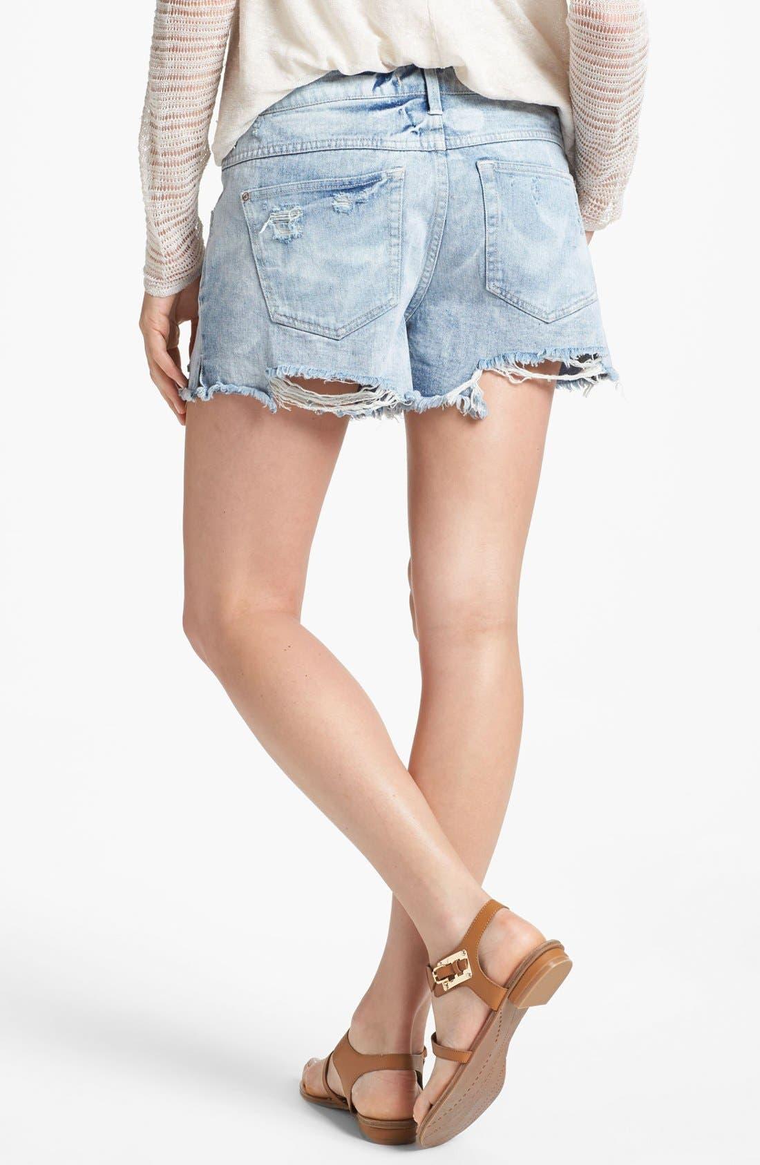 Alternate Image 2  - Free People Denim Cutoff Shorts (Summer Sky)