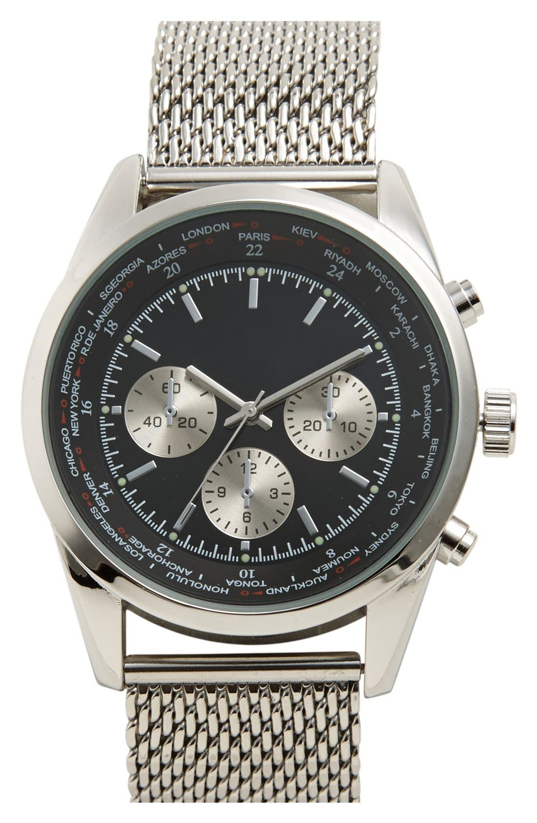 Alternate Image 1 Selected - Accutime Chronograph Bracelet Watch, 44mm