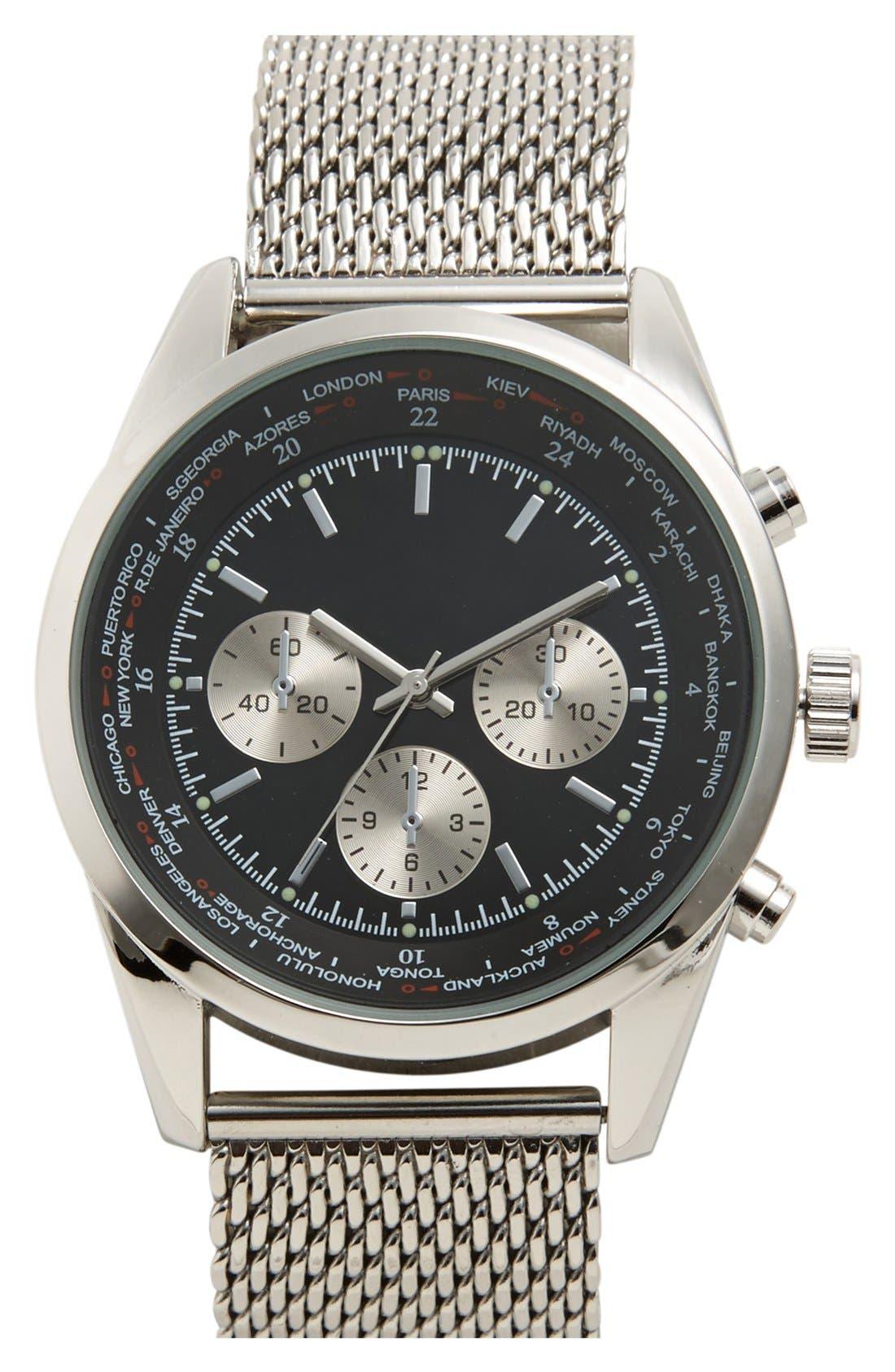 Main Image - Accutime Chronograph Bracelet Watch, 44mm