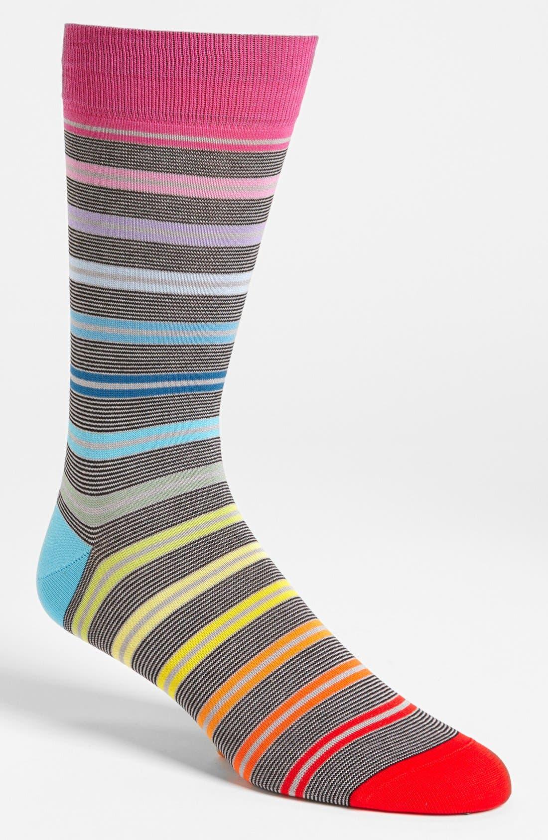 Main Image - BUGATCHI Multi Stripe Socks