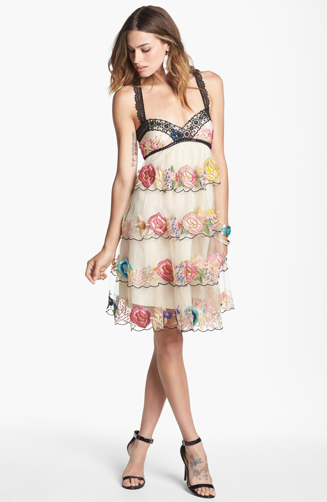 Main Image - Free People 'Ramble Rose' Embroidered Dress