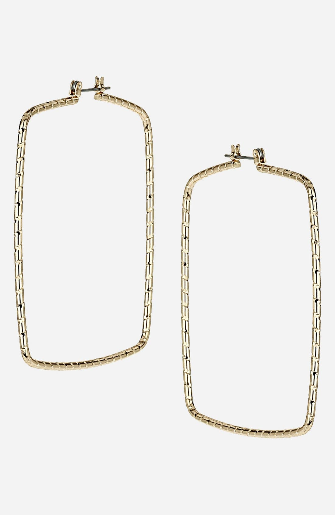 Alternate Image 1 Selected - Topshop Engraved Hoop Earrings