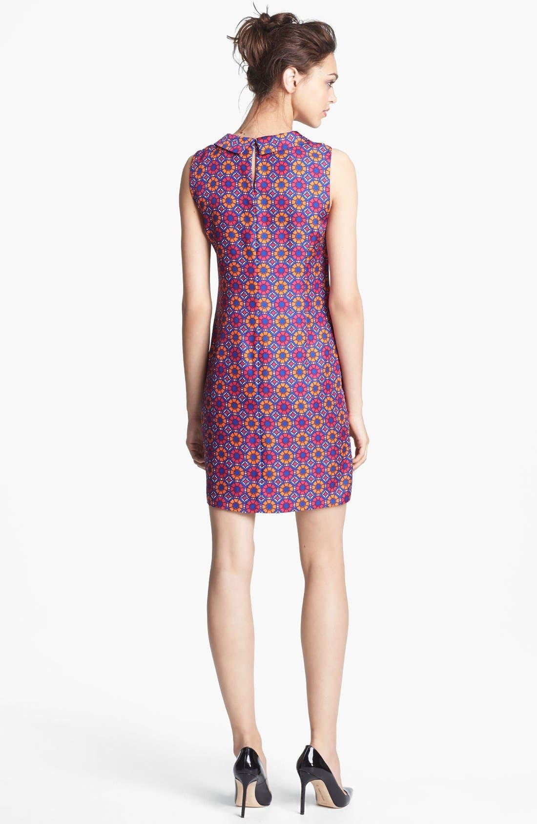 Alternate Image 2  - Miss Wu Geo Tile Print Silk Dress (Nordstrom Exclusive)