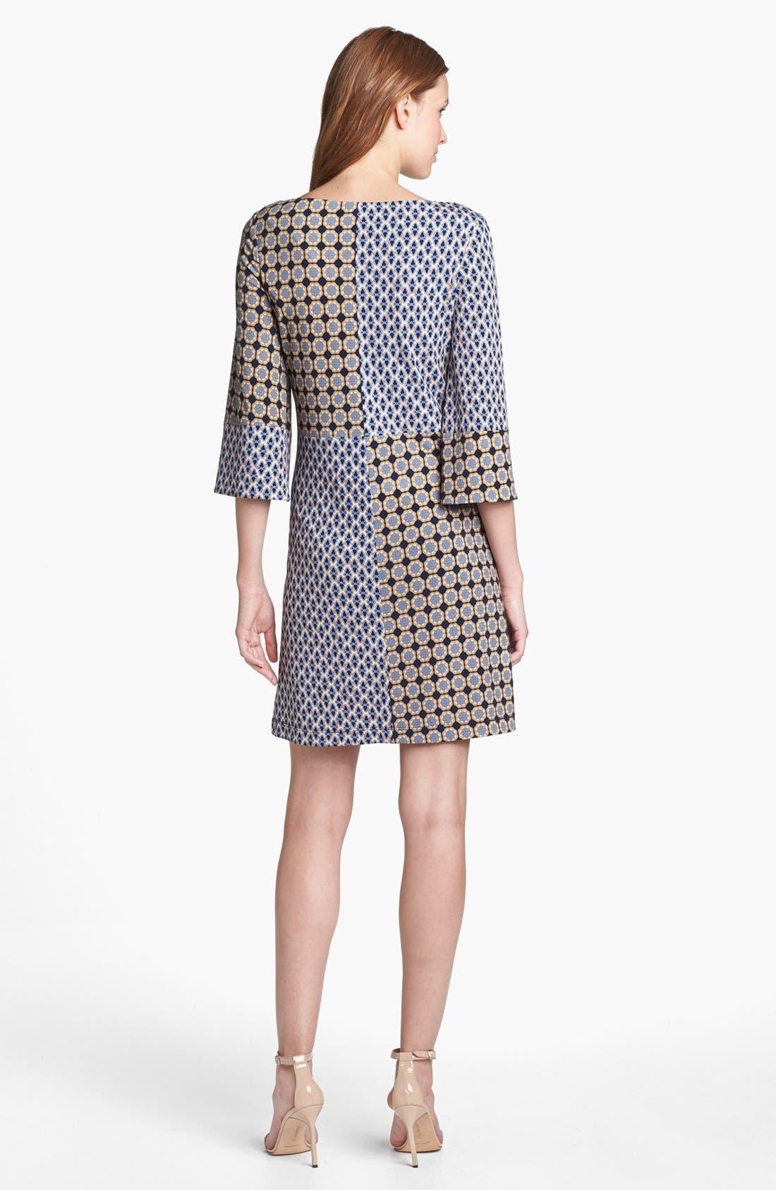 Alternate Image 2  - Isaac Mizrahi New York Print Jersey Shift Dress