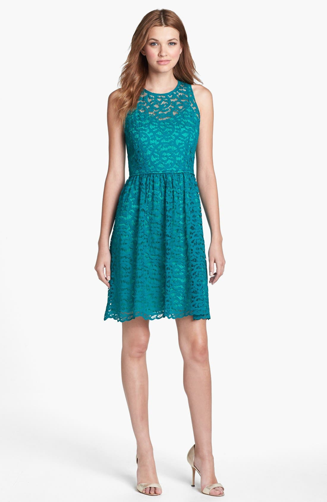 Alternate Image 3  - Donna Ricco Lace Fit & Flare Dress
