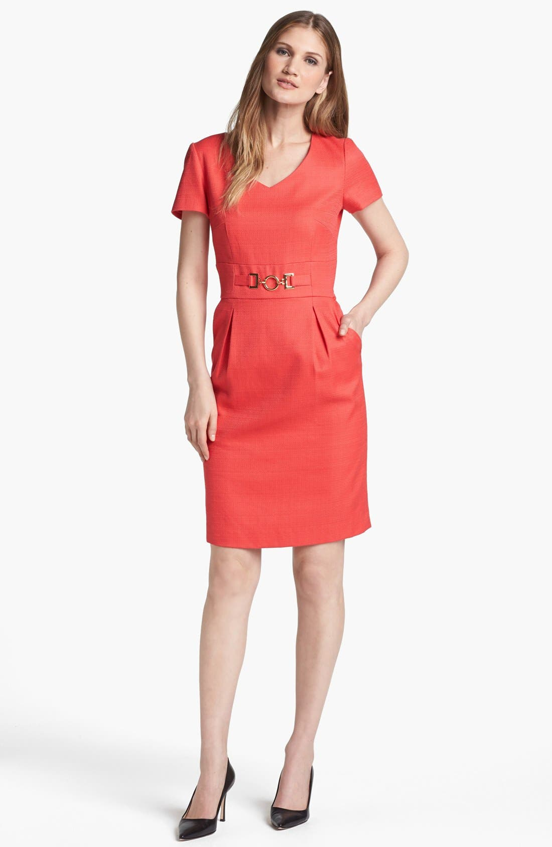 Alternate Image 1 Selected - Tahari Hardware Detail Sheath Dress