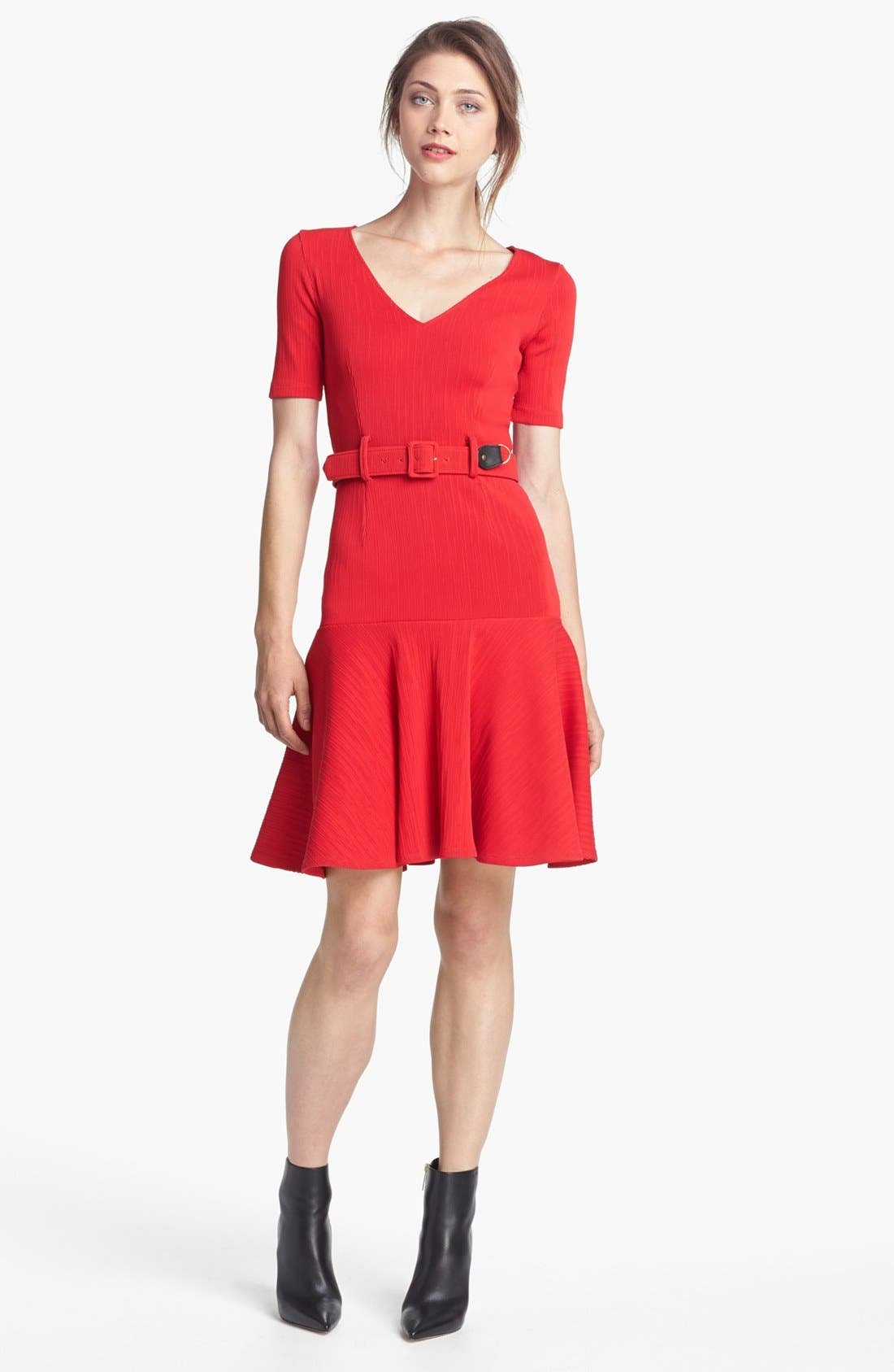 Alternate Image 1 Selected - Opening Ceremony 'Mace' Belted Flare Dress