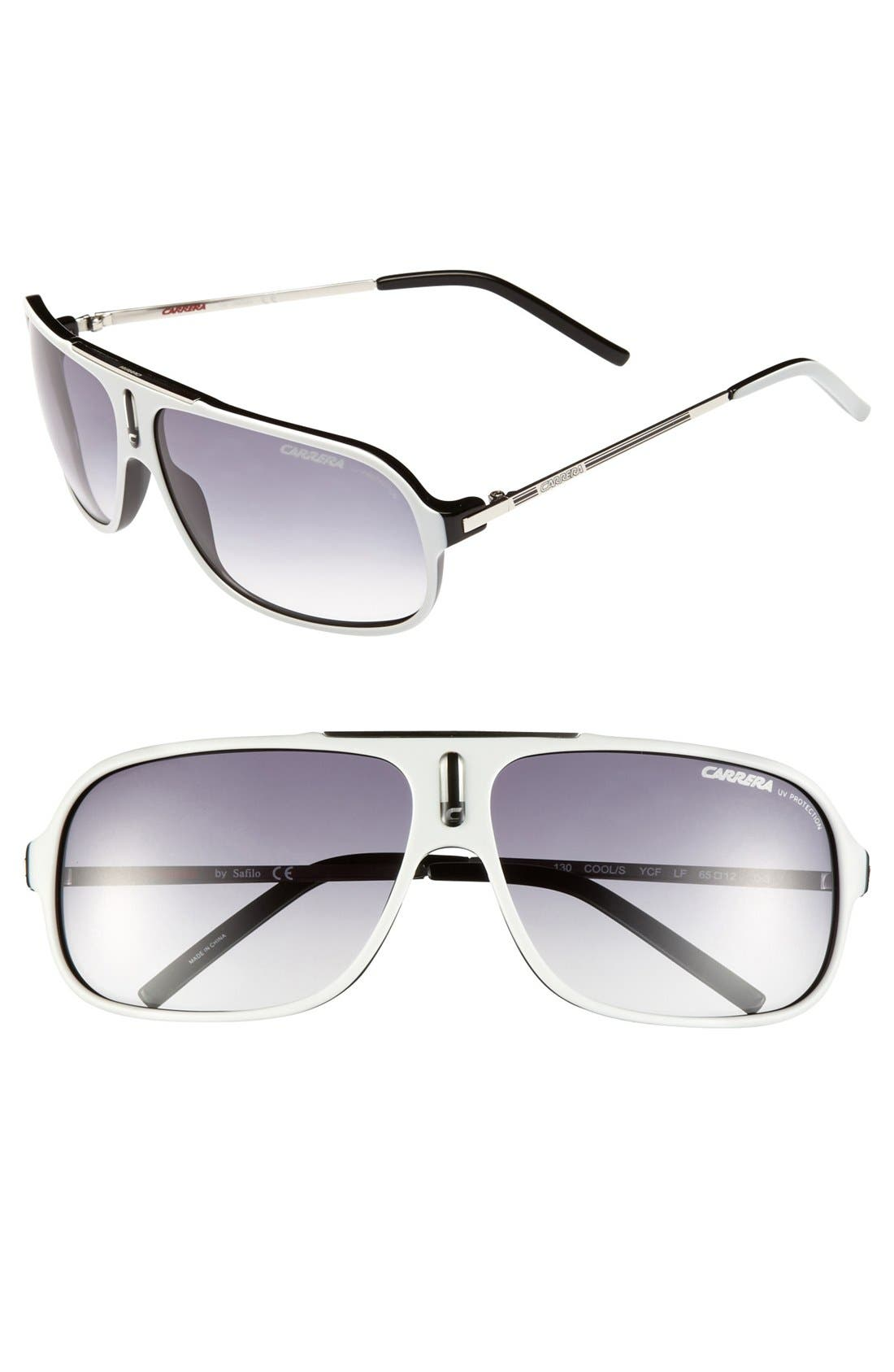 Alternate Image 1 Selected - Carrera Eyewear 'Cool' 61mm Vintage Inspired Aviator Sunglasses