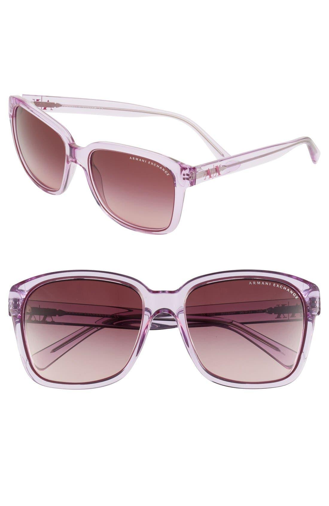 Main Image - AX Armani Exchange 56mm Sunglasses