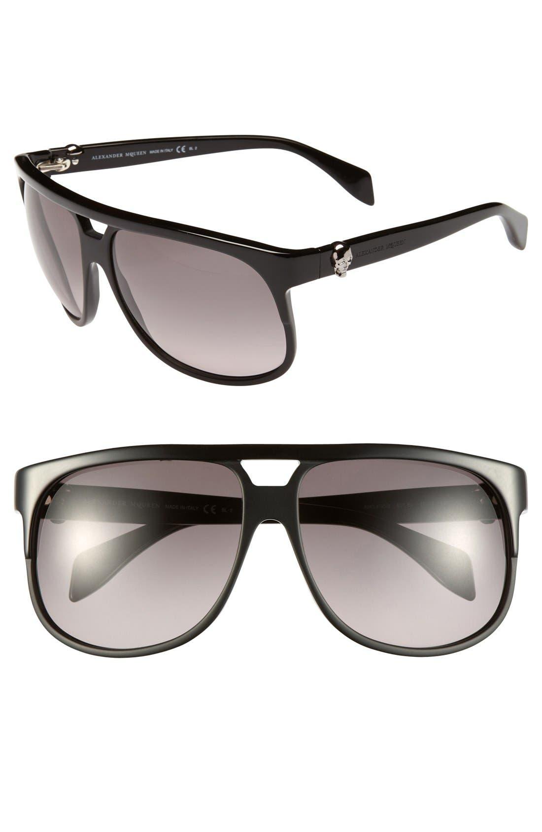 Alternate Image 1 Selected - Alexander McQueen 60mm Retro Sunglasses