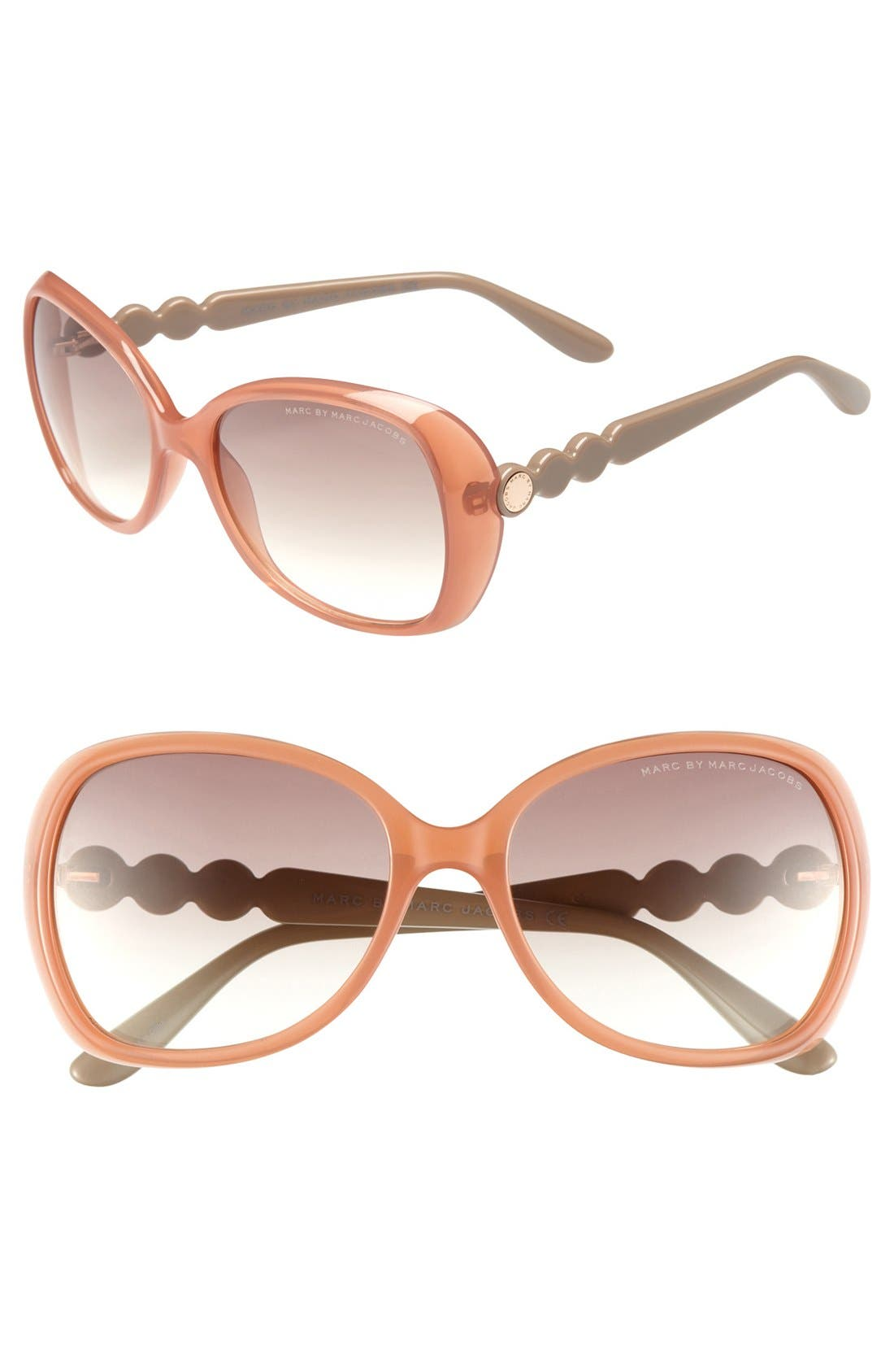 Alternate Image 1 Selected - MARC BY MARC JACOBS 56mm Oversized Sunglasses