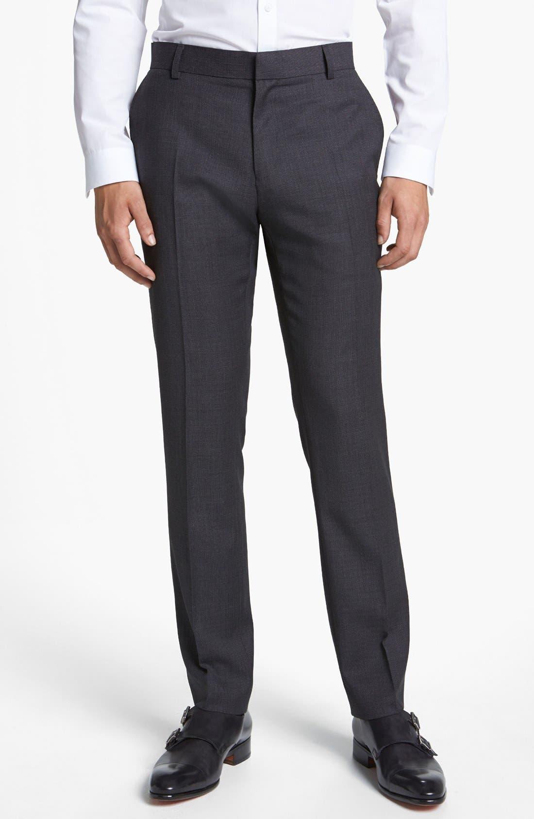 Alternate Image 1 Selected - Topman Slim Fit Trousers
