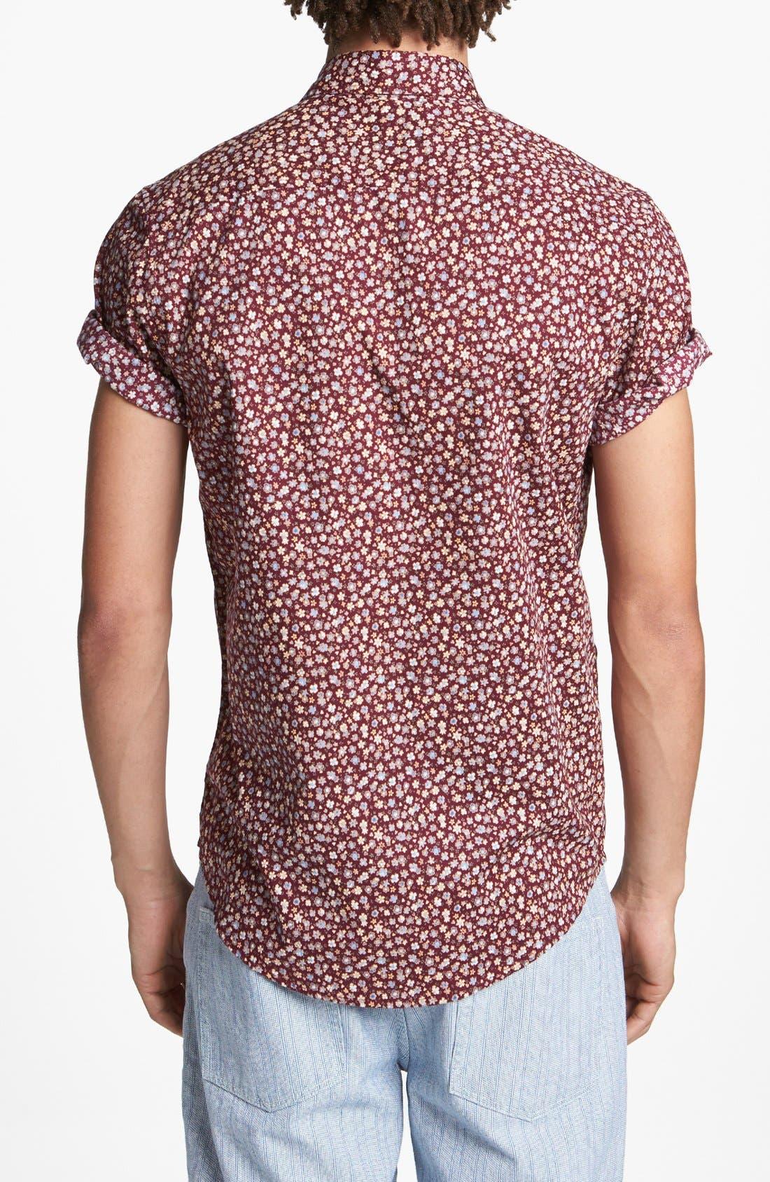 Alternate Image 3  - Topman Floral Print Shirt
