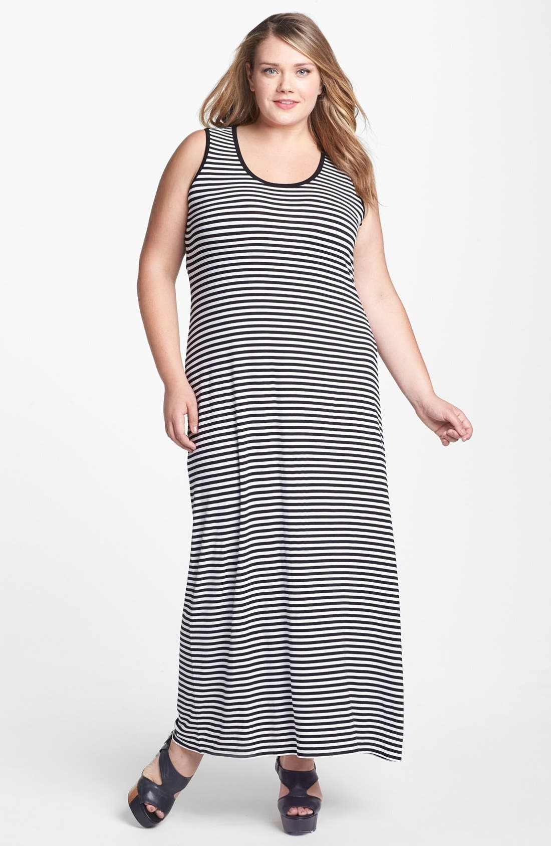Alternate Image 1 Selected - Two by Vince Camuto Stripe Tank Maxi Dress (Plus Size)