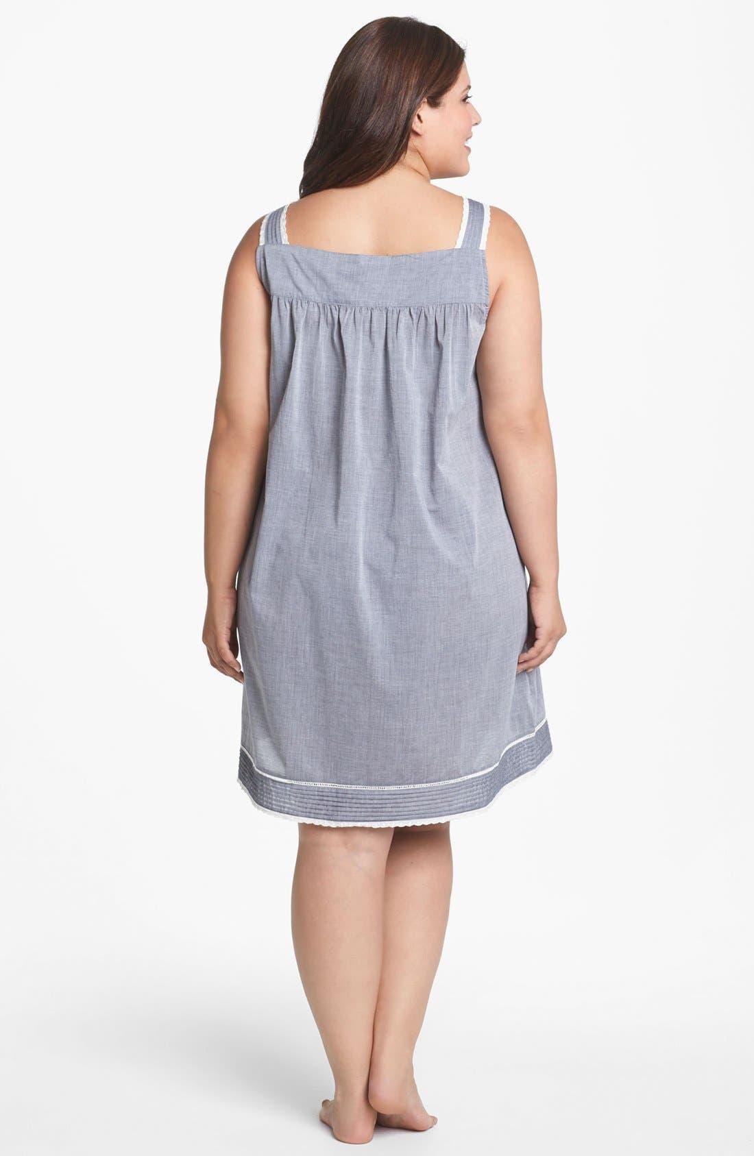 Alternate Image 2  - Eileen West 'Delightful Day' Short Nightgown (Plus Size)