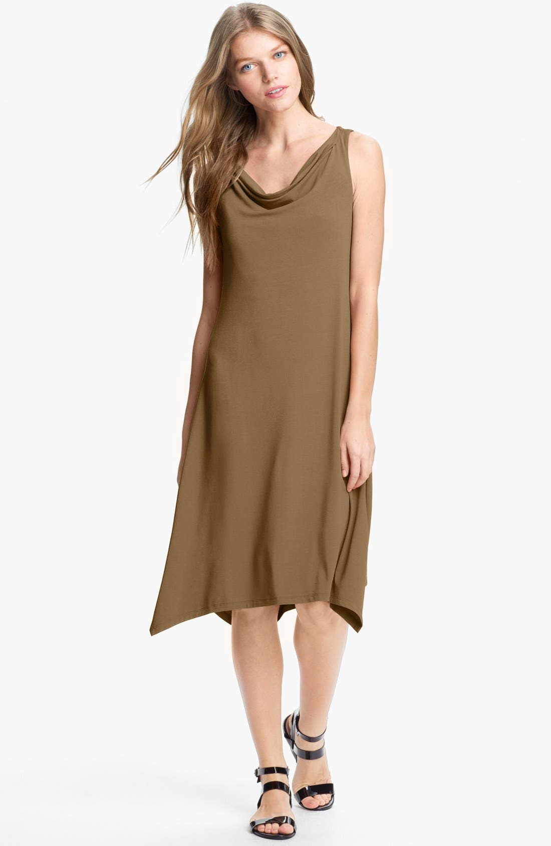 Alternate Image 1 Selected - Eileen Fisher Cowl Neck Dress (Regular & Petite)