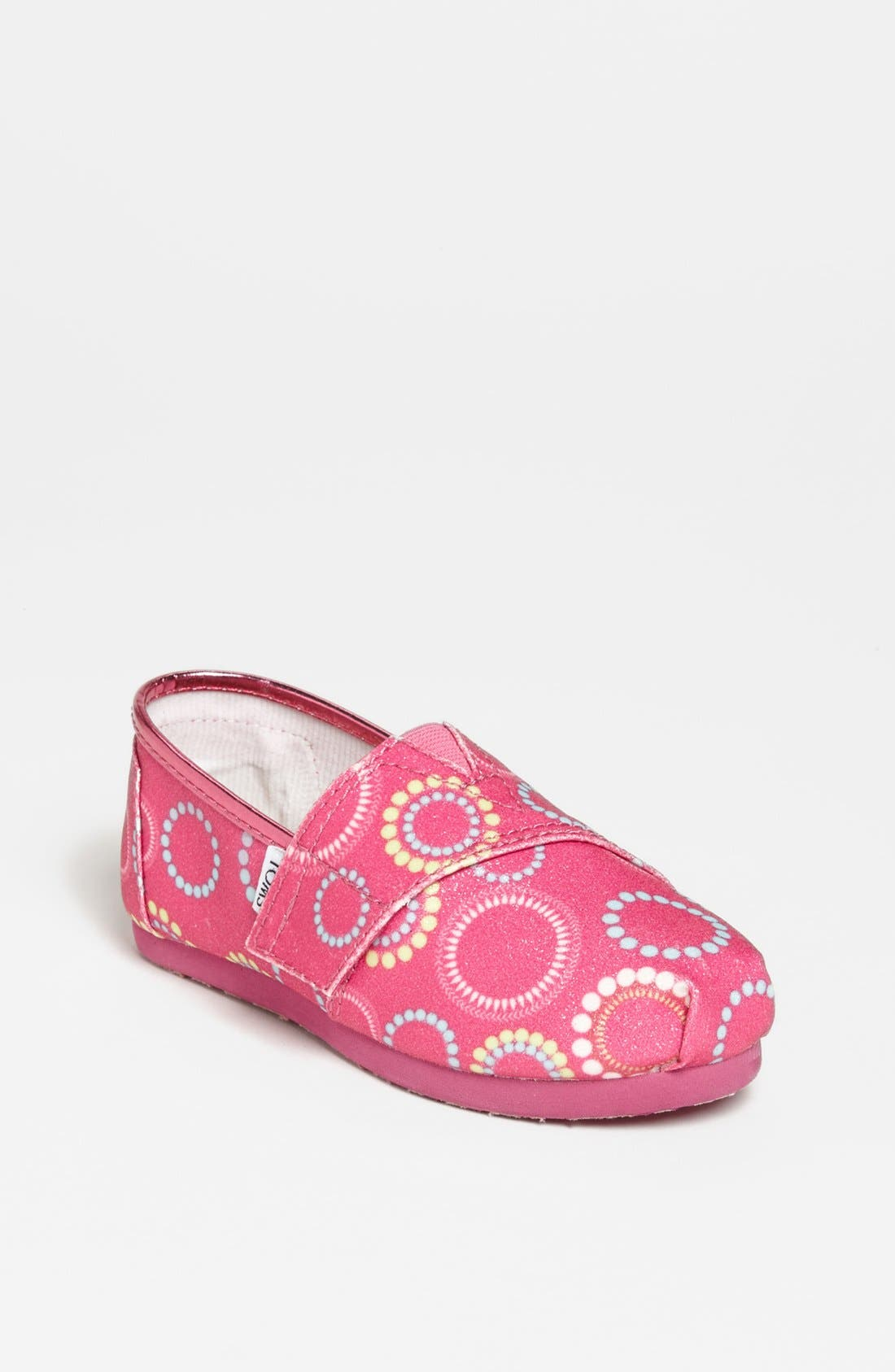 Main Image - TOMS 'Classic Tiny - Circles Glitter' Slip-On (Baby, Walker & Toddler)