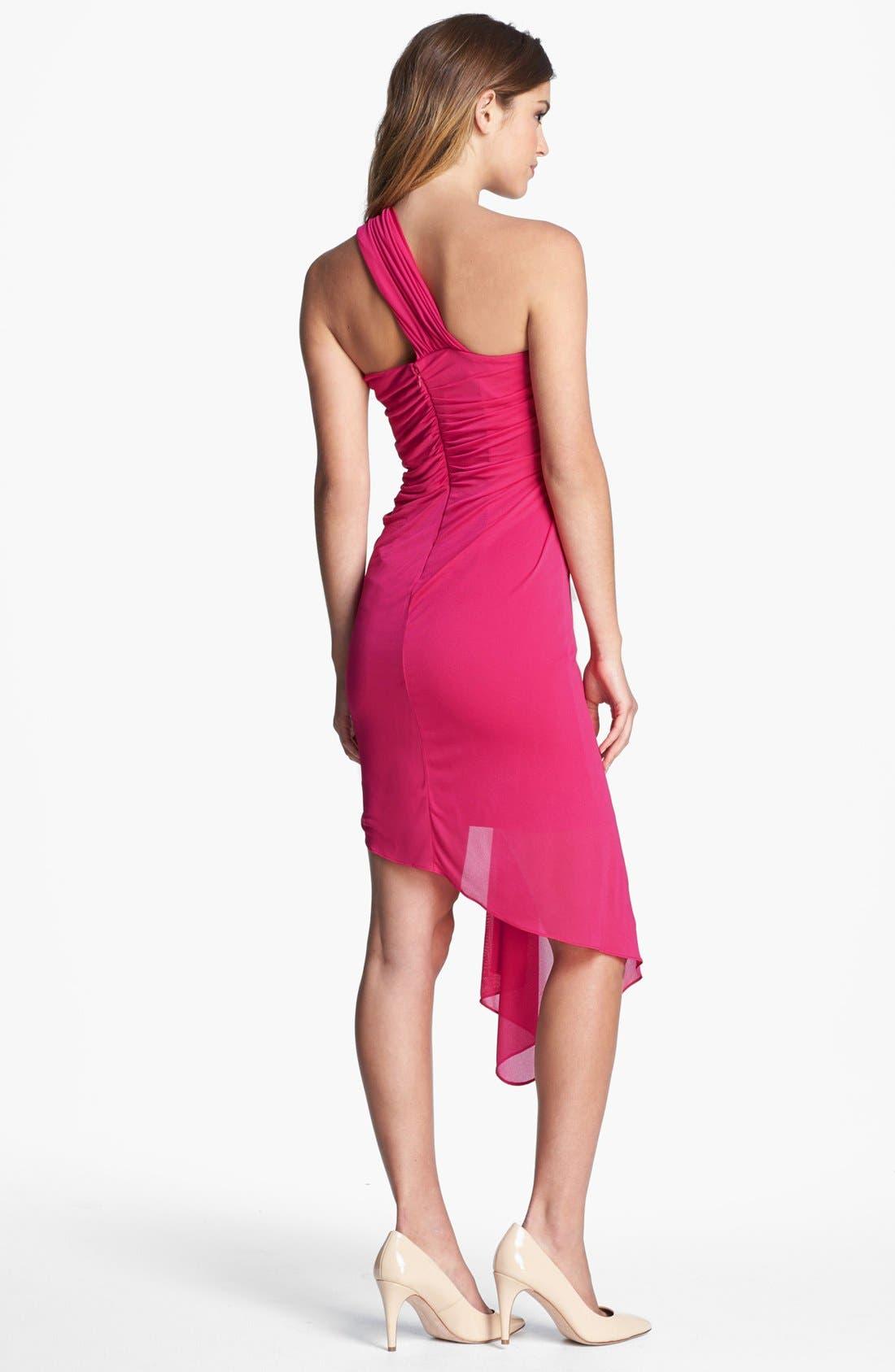 Alternate Image 2  - Halston Heritage One Shoulder Ponte Dress