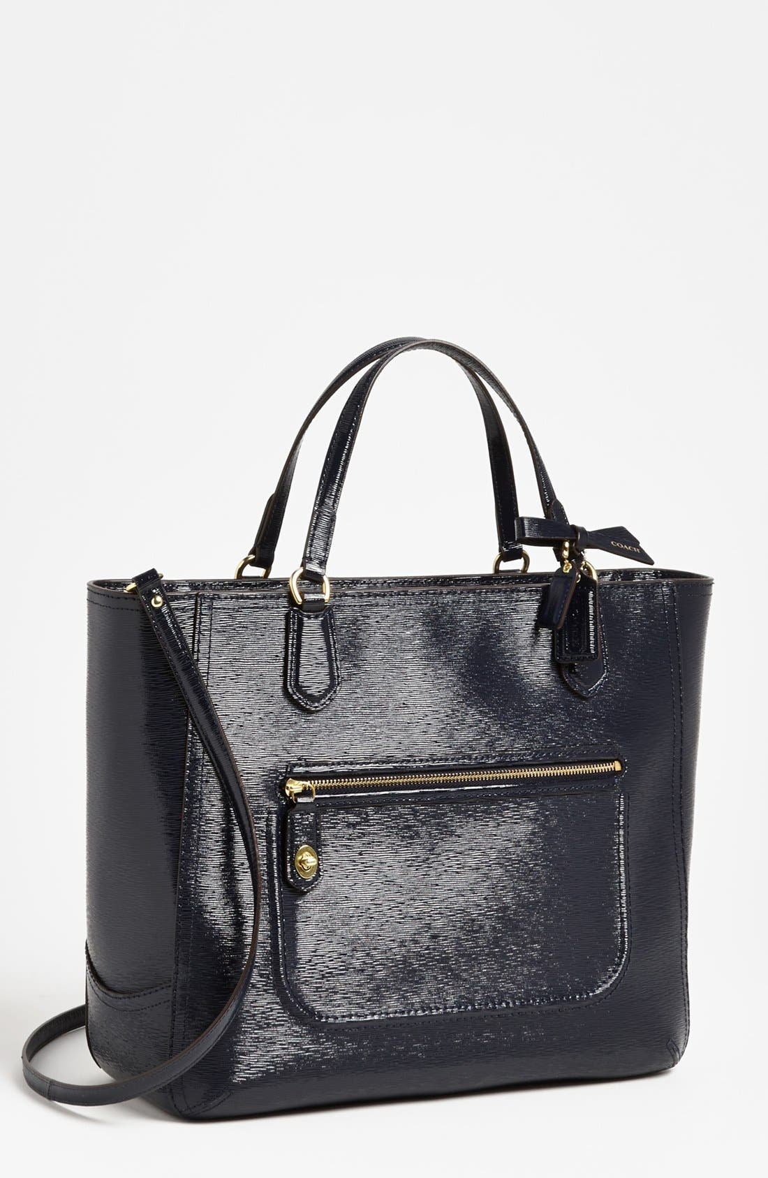 Alternate Image 1 Selected - COACH 'Poppy Blaire - Small' Patent Tote