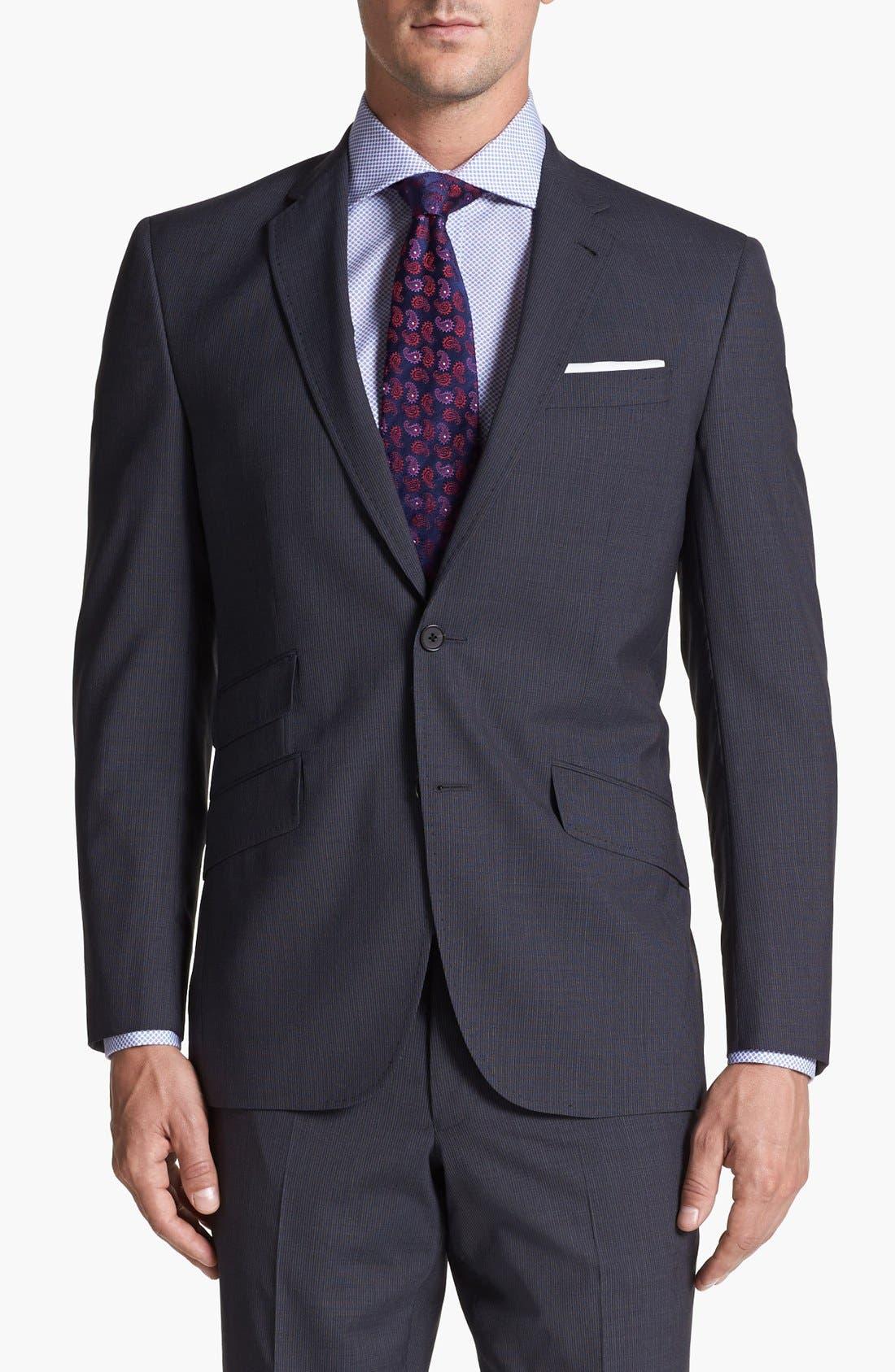 Alternate Image 4  - Ted Baker London 'Jim' Pinstripe Wool Suit