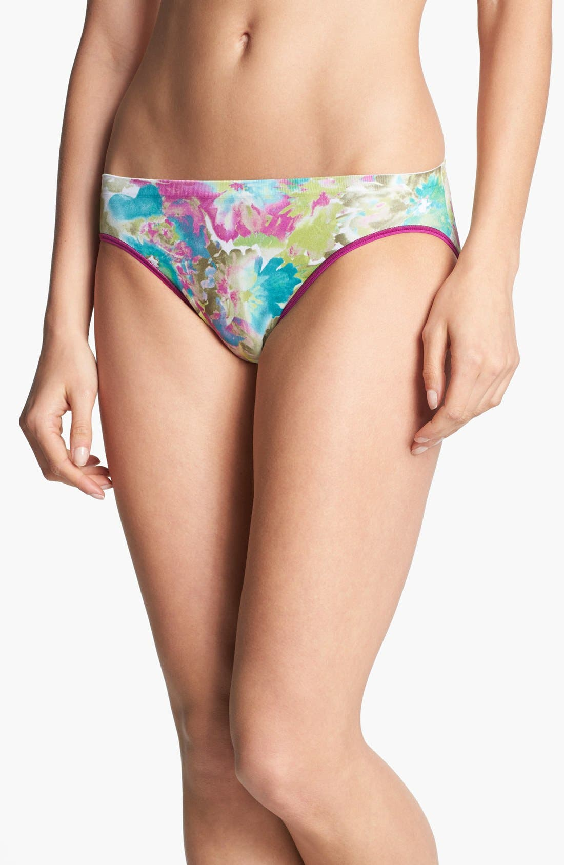 Alternate Image 1 Selected - Shimera Print Seamless High Cut Briefs