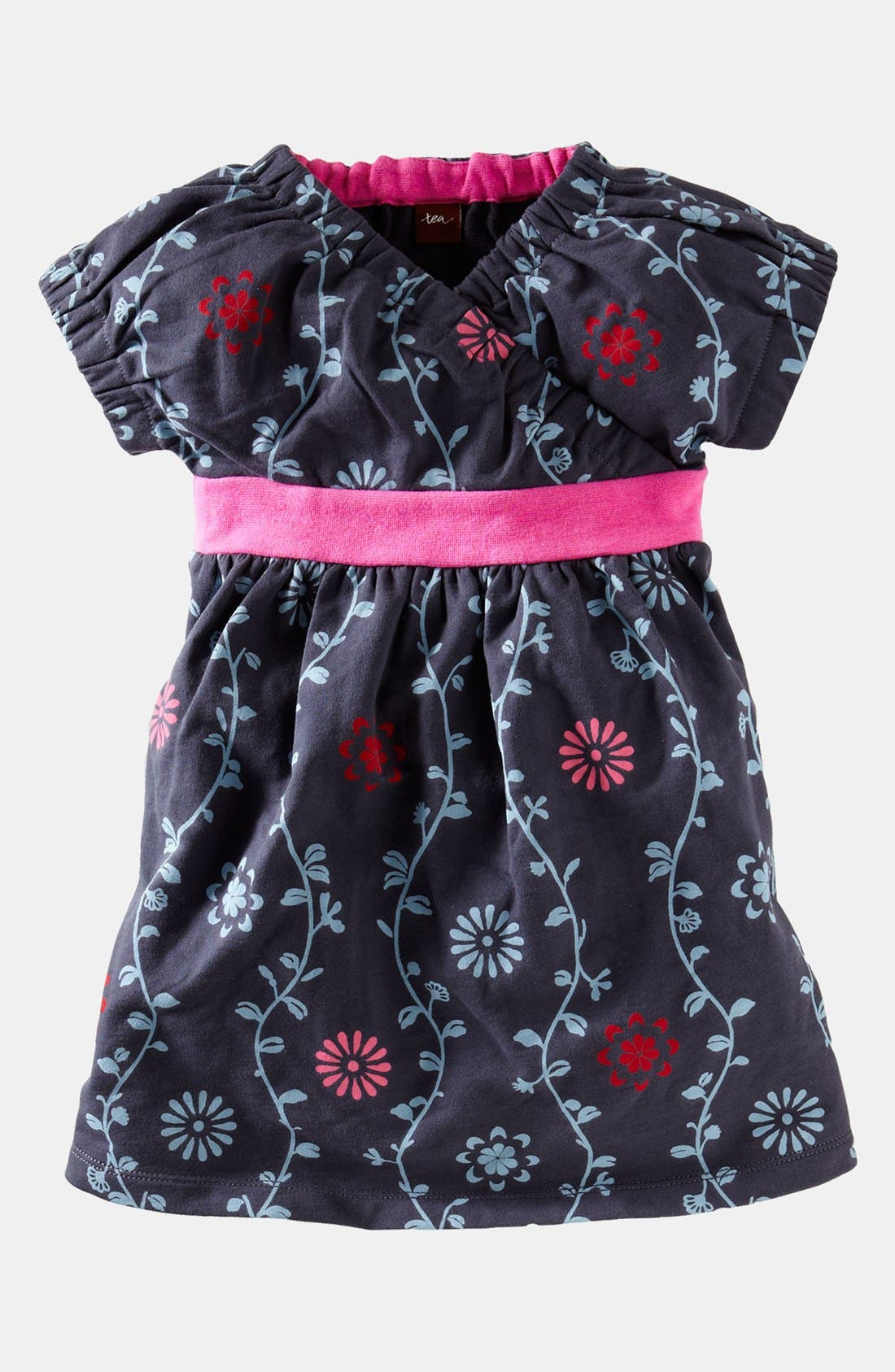 Alternate Image 1 Selected - Tea Collection 'Indigo Vines' Dress (Little Girls & Big Girls)