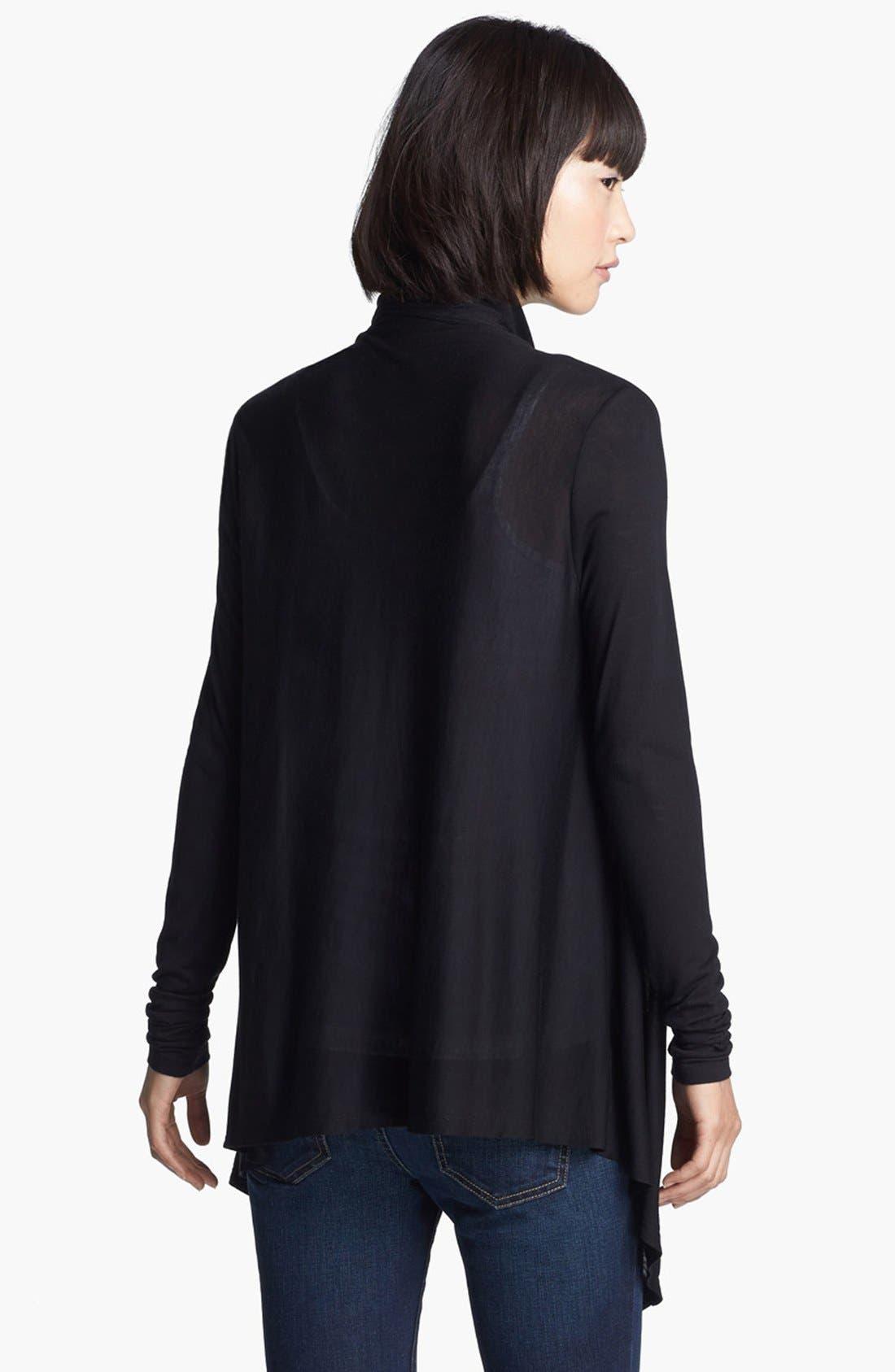 Alternate Image 2  - HELMUT Helmut Lang 'Kinetic Jersey' Drape Front Cardigan