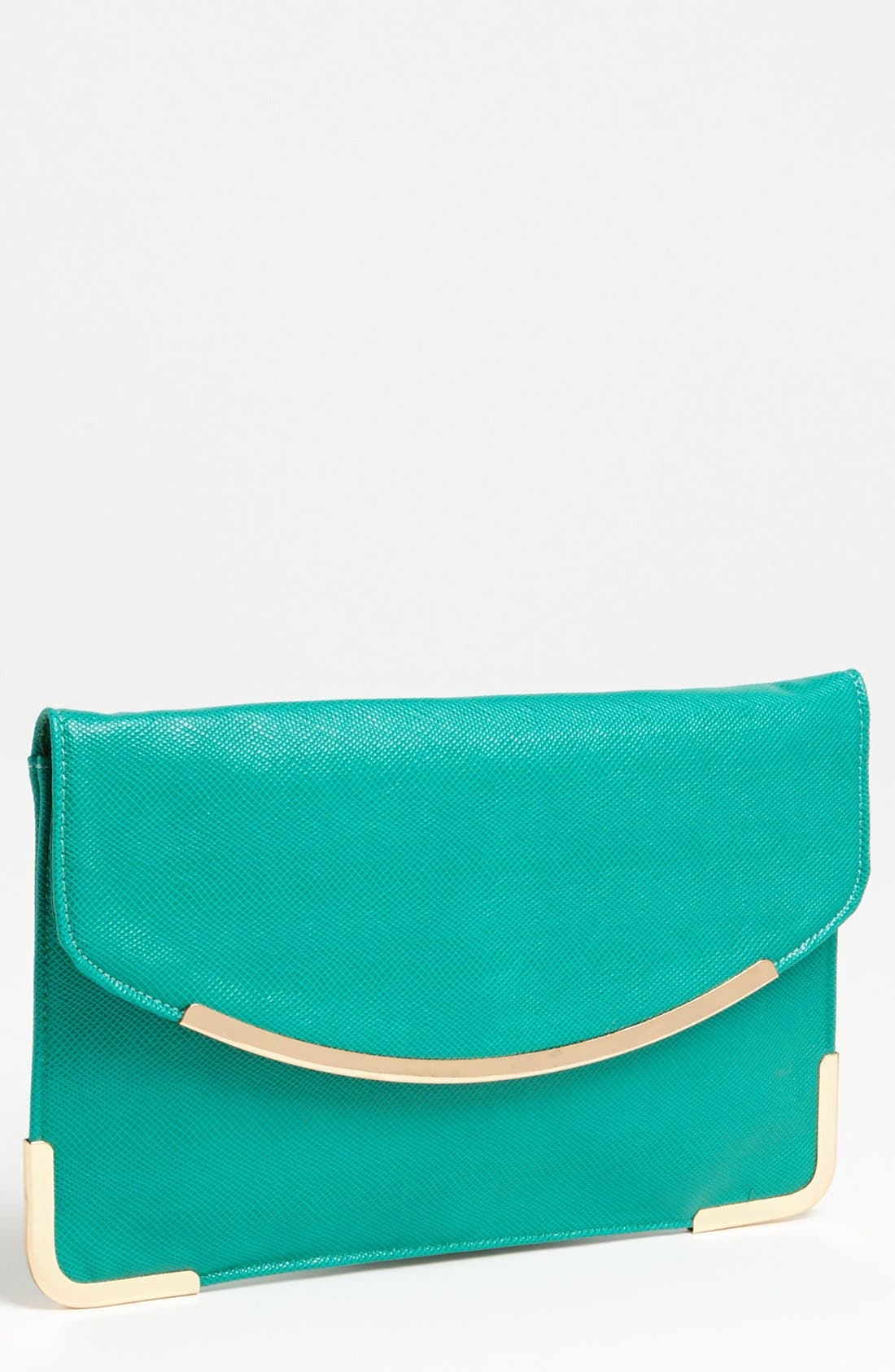 Alternate Image 1 Selected - Expressions NYC Faux Leather Envelope Clutch